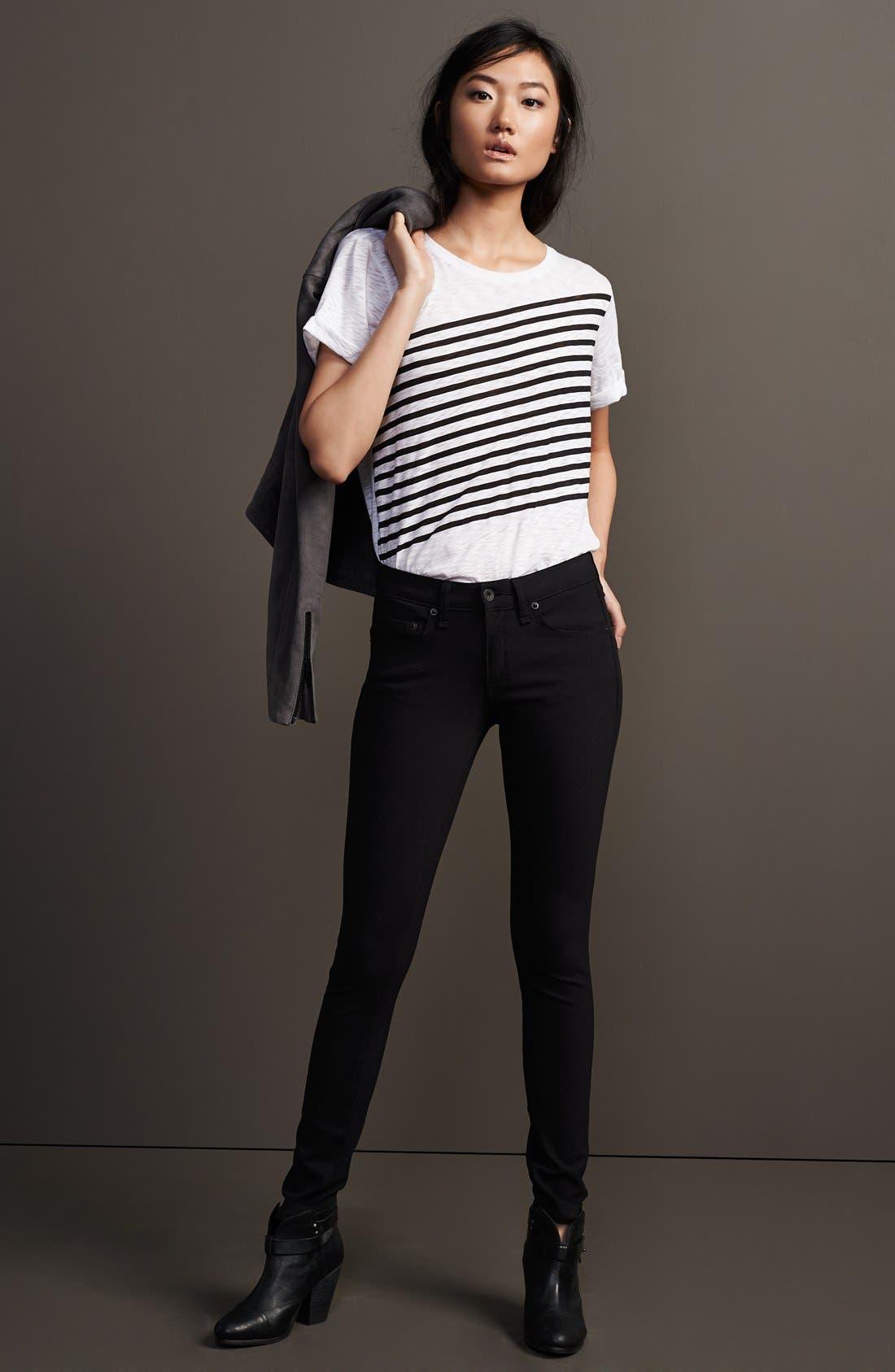 Alternate Image 5  - rag & bone/JEAN Skinny Jeans (Equestrian)