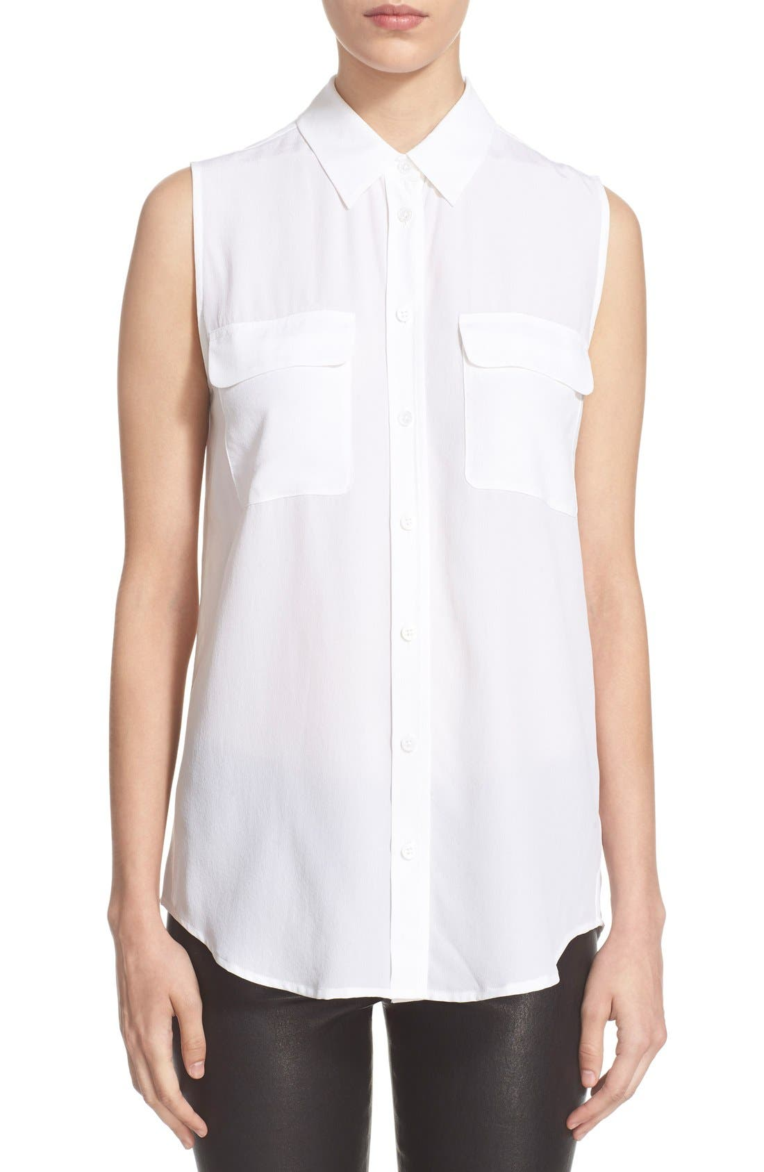 Equipment 'Slim Signature' Sleeveless Silk Shirt