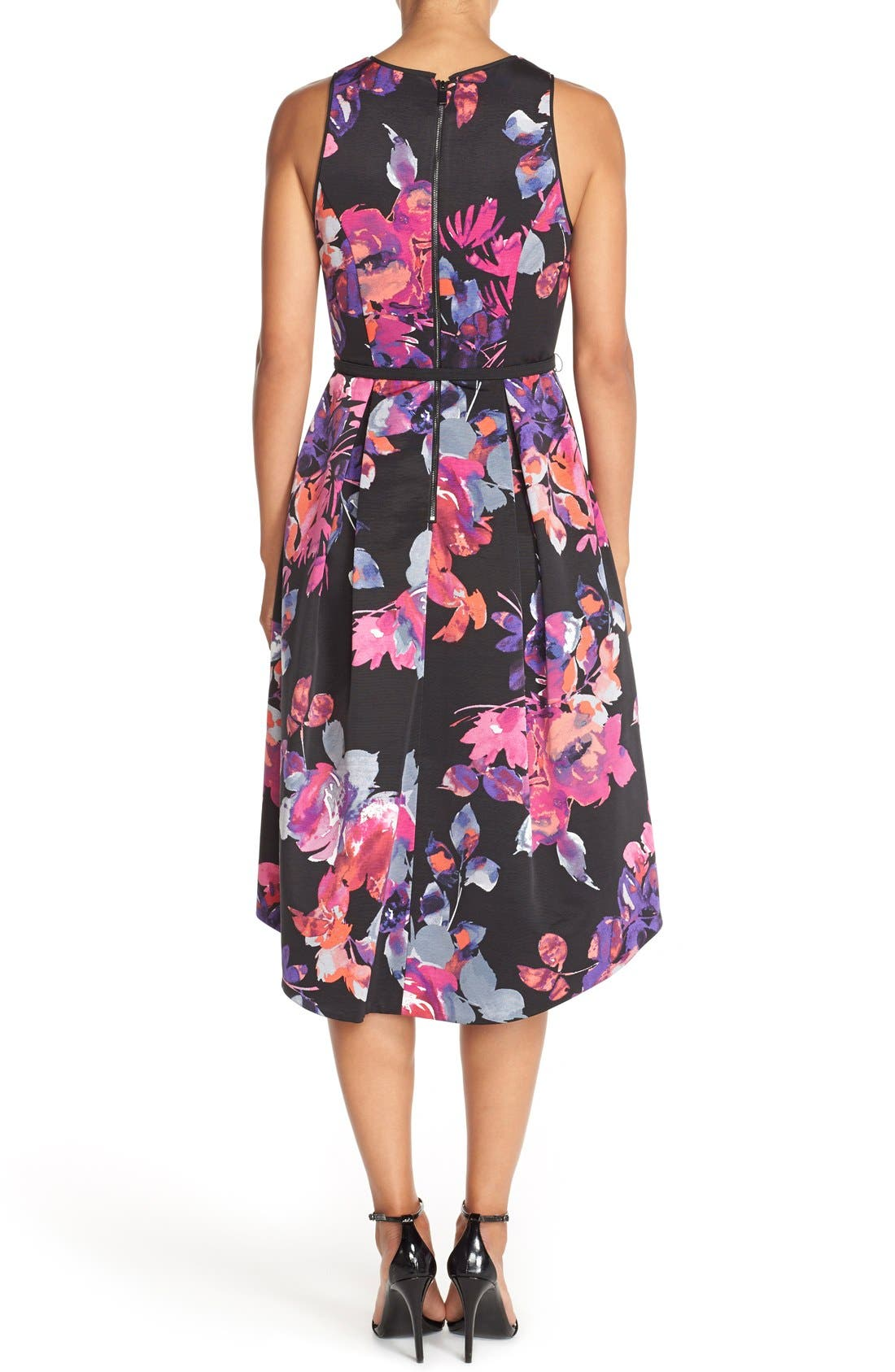 Alternate Image 2  - Vince Camuto Belted Faille Fit & Flare Dress
