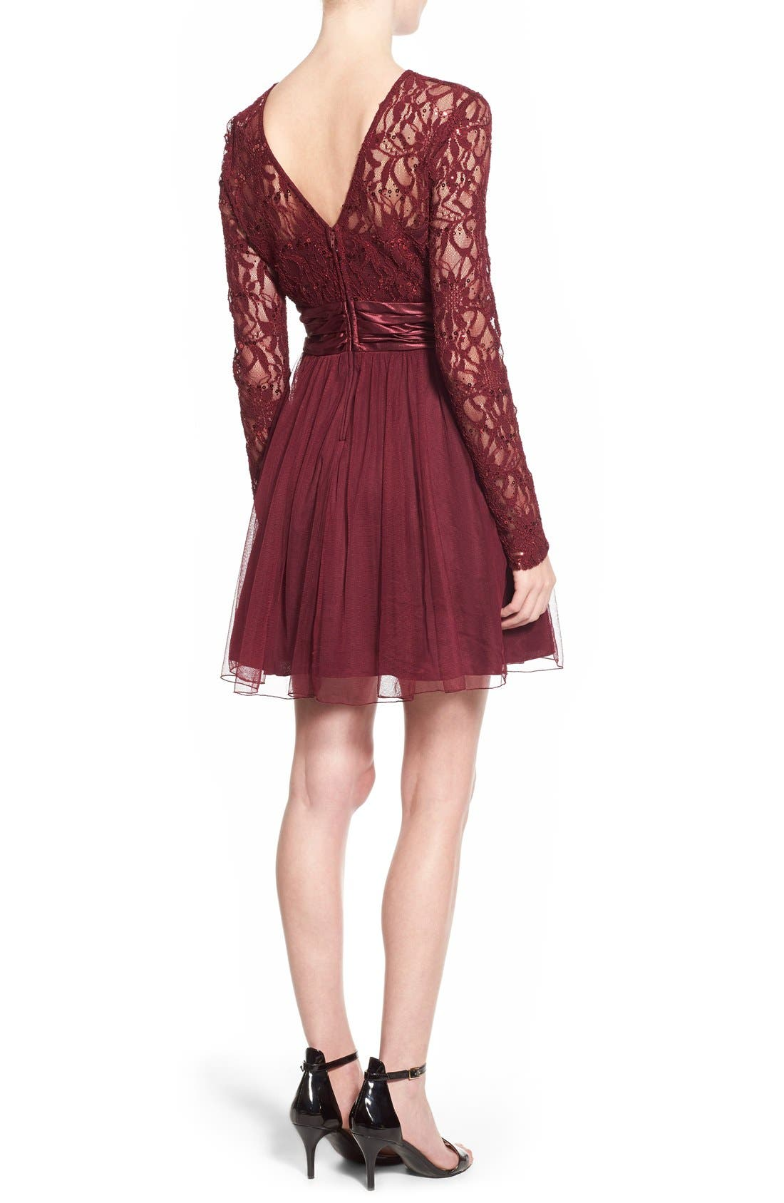 Alternate Image 2  - Speechless Lace Bodice Fit & Flare Dress