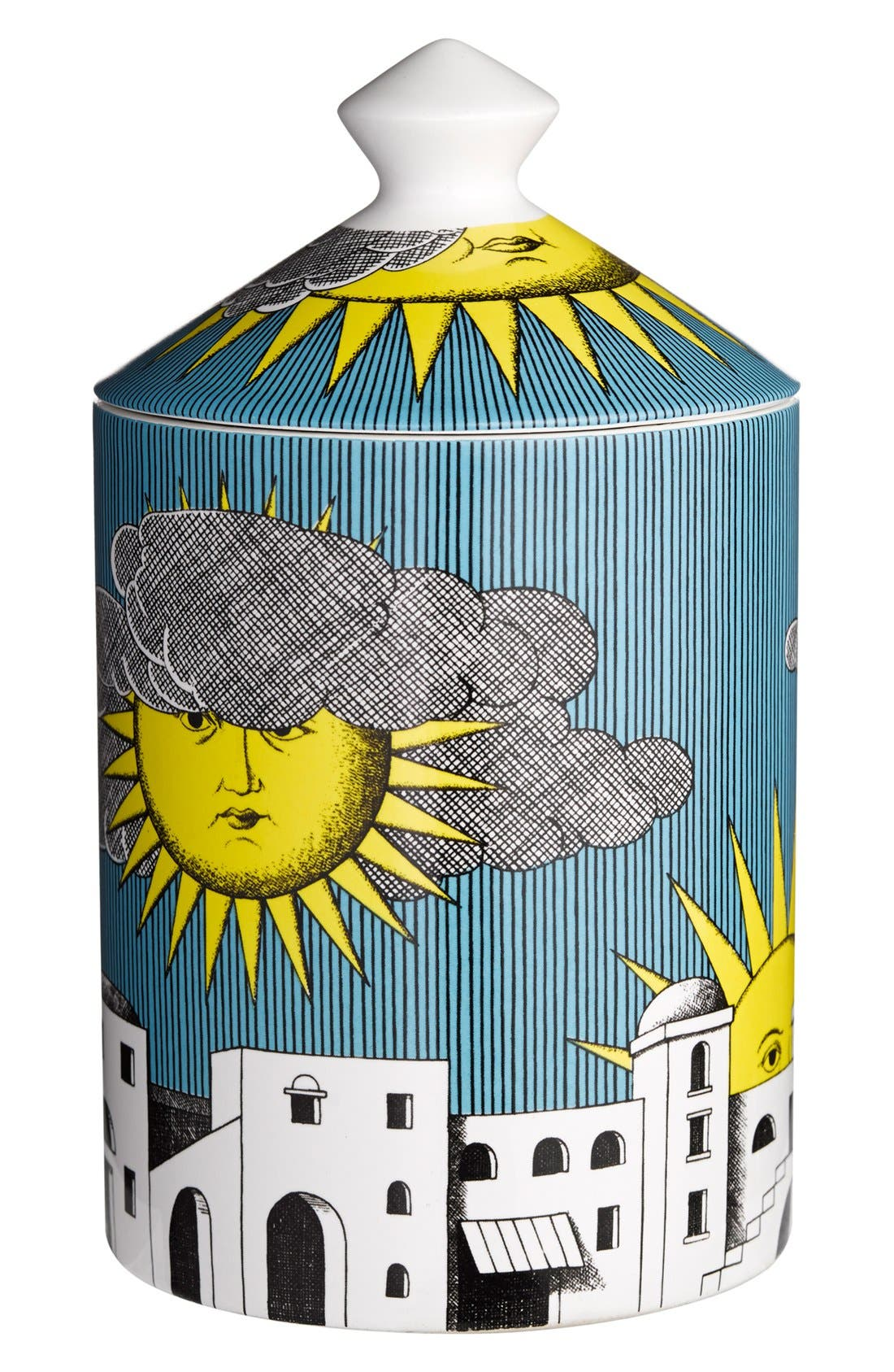 Fornasetti 'Sole di Capri' Lidded Candle