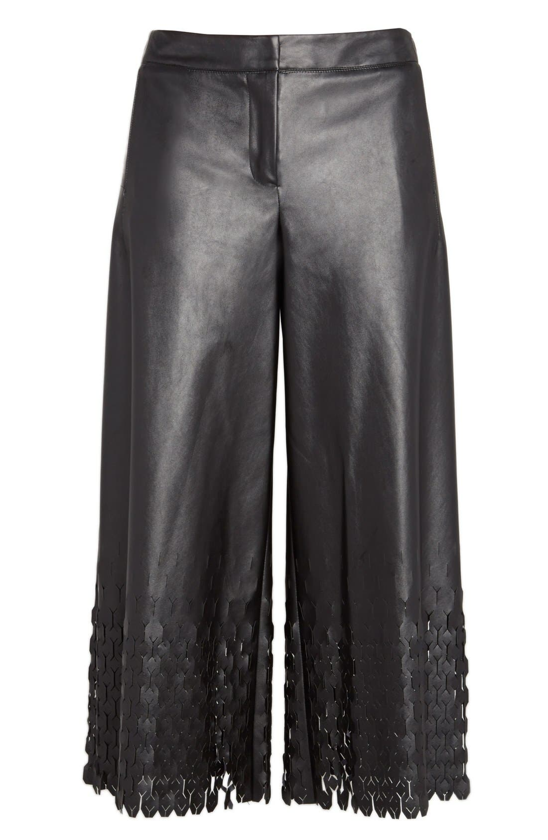 Alternate Image 5  - Opening Ceremony 'Tire Tread' Laser Cut Culottes