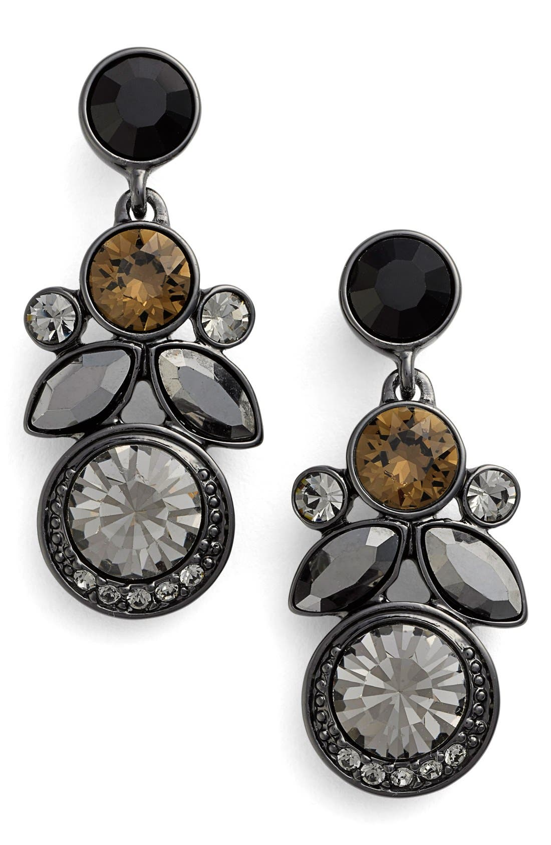 Alternate Image 1 Selected - Givenchy Cluster Crystal Drop Earrings