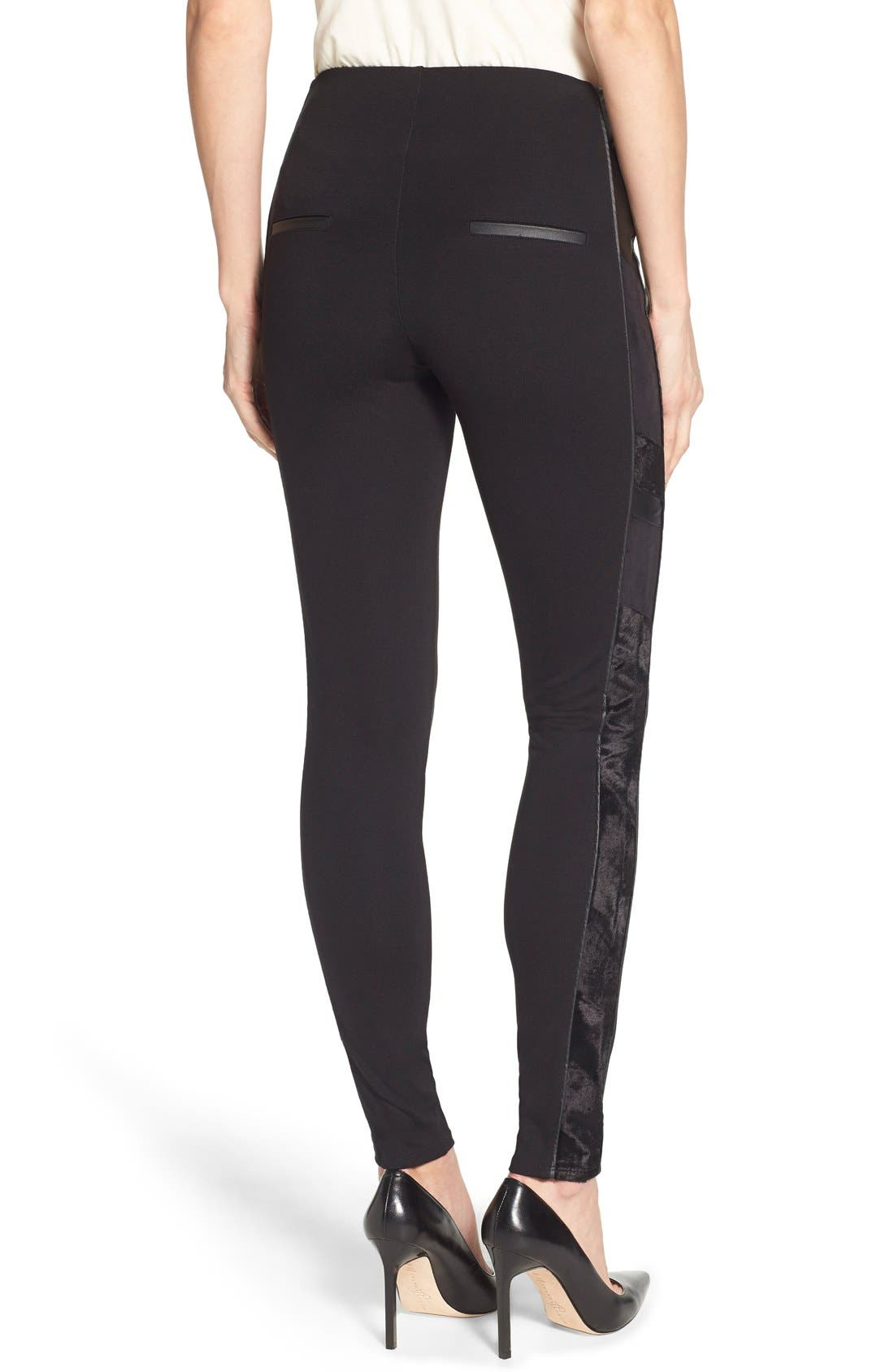 Alternate Image 1 Selected - Lyssé Tuxedo Stripe Ponte Leggings