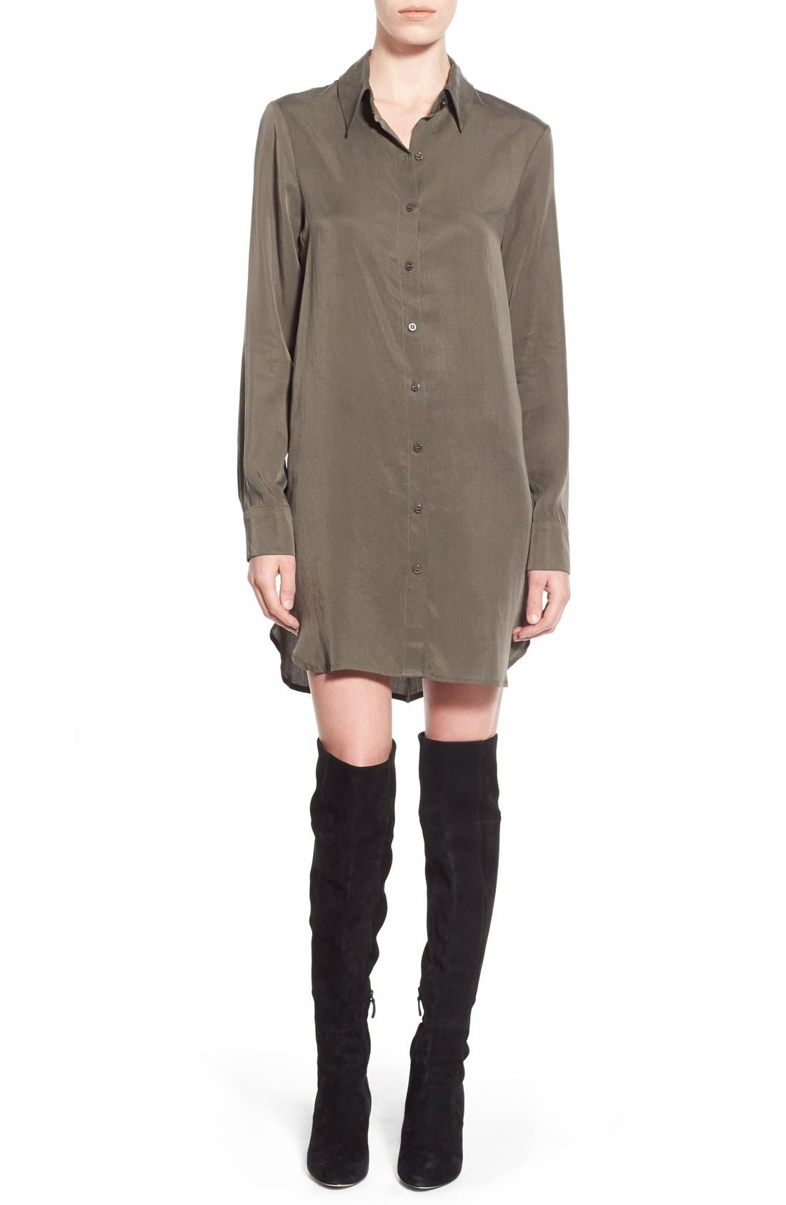 Alternate Image 1 Selected - Wayf Button Front Shirtdress