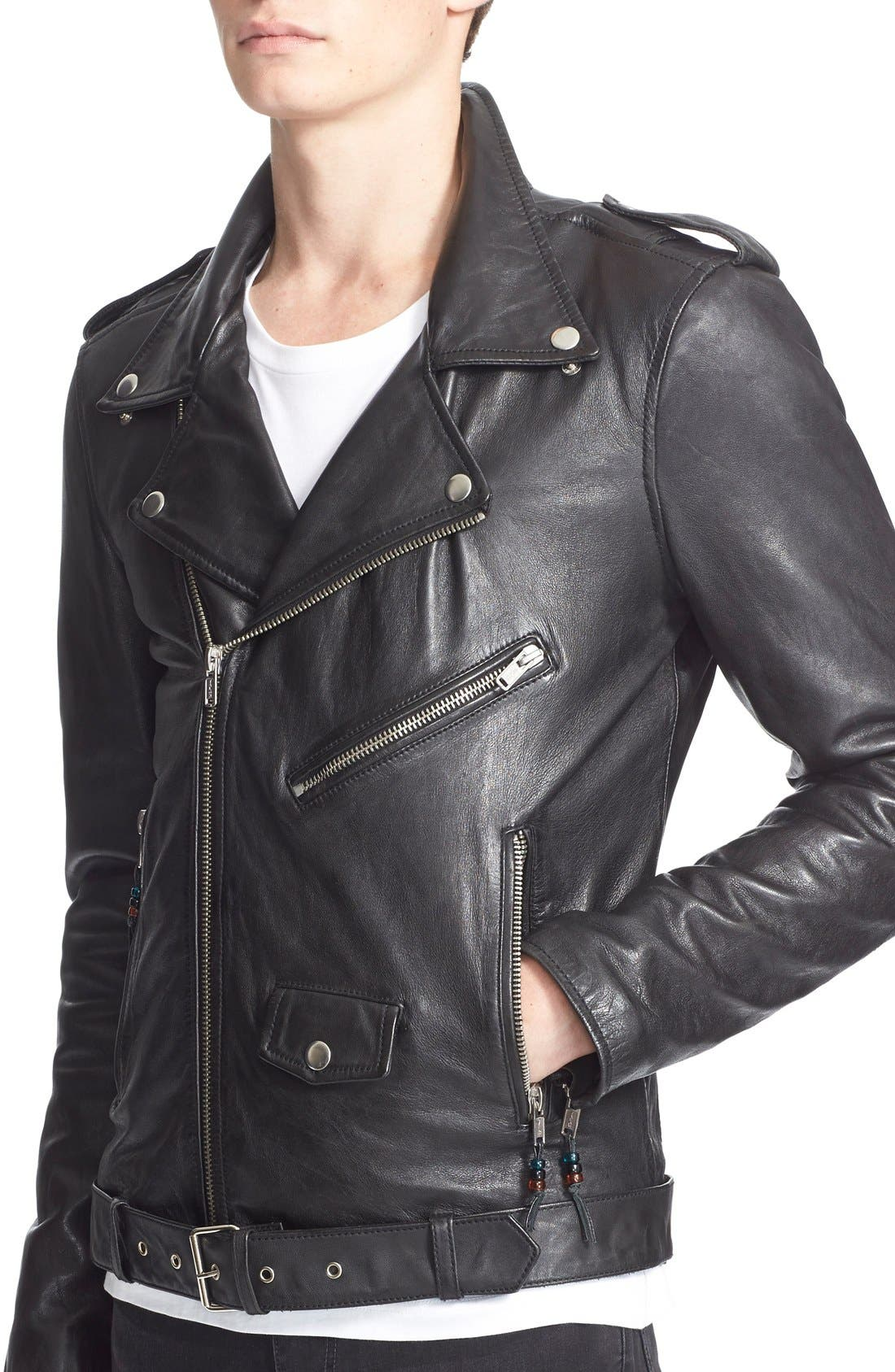 Alternate Image 5  - BLK DNM 'Leather Jacket 5' Leather Moto Jacket