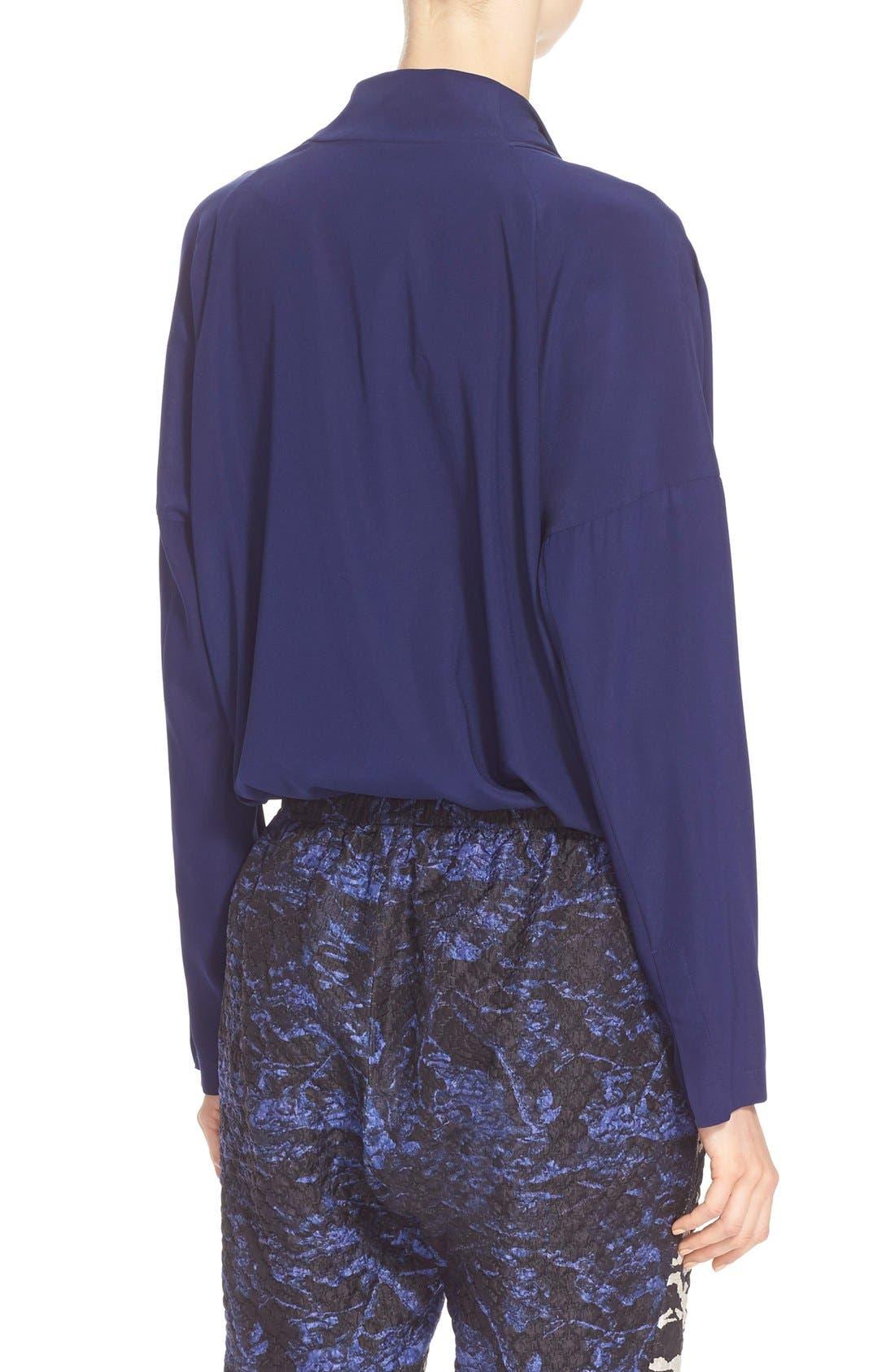 Alternate Image 2  - Zero + Maria Cornejo 'Edi' Stretch Silk Charmeuse Shirt