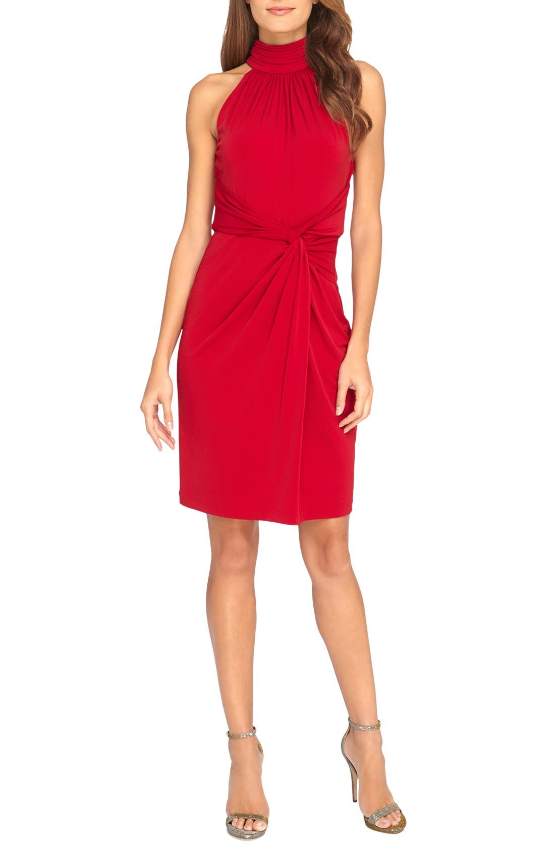 Main Image - Catherine Catherine Malandrino 'Jazz' Halter Style Twist Front Dress