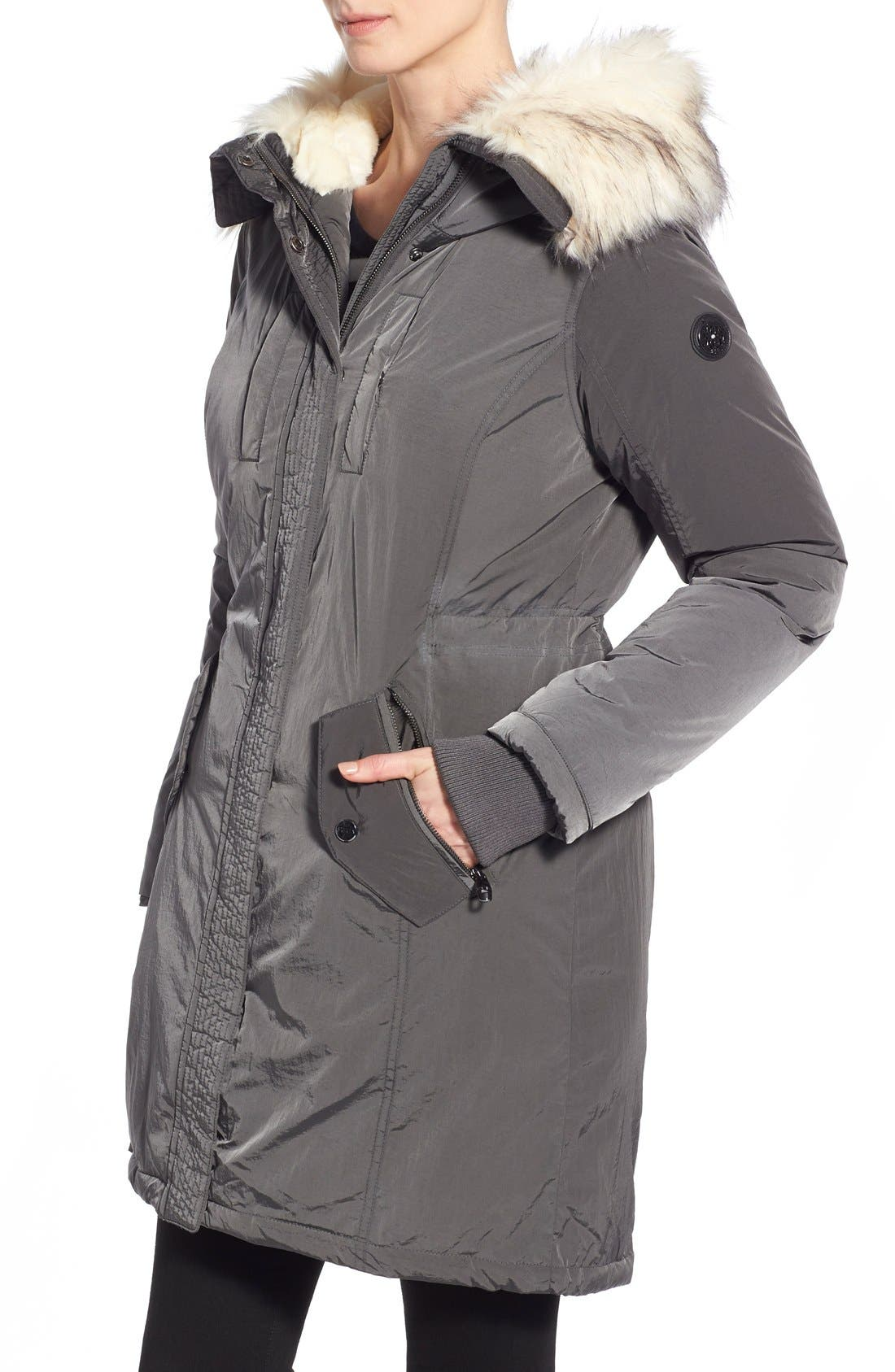 Alternate Image 4  - Steve Madden Split Hood Down Parka with Faux Fur Trim