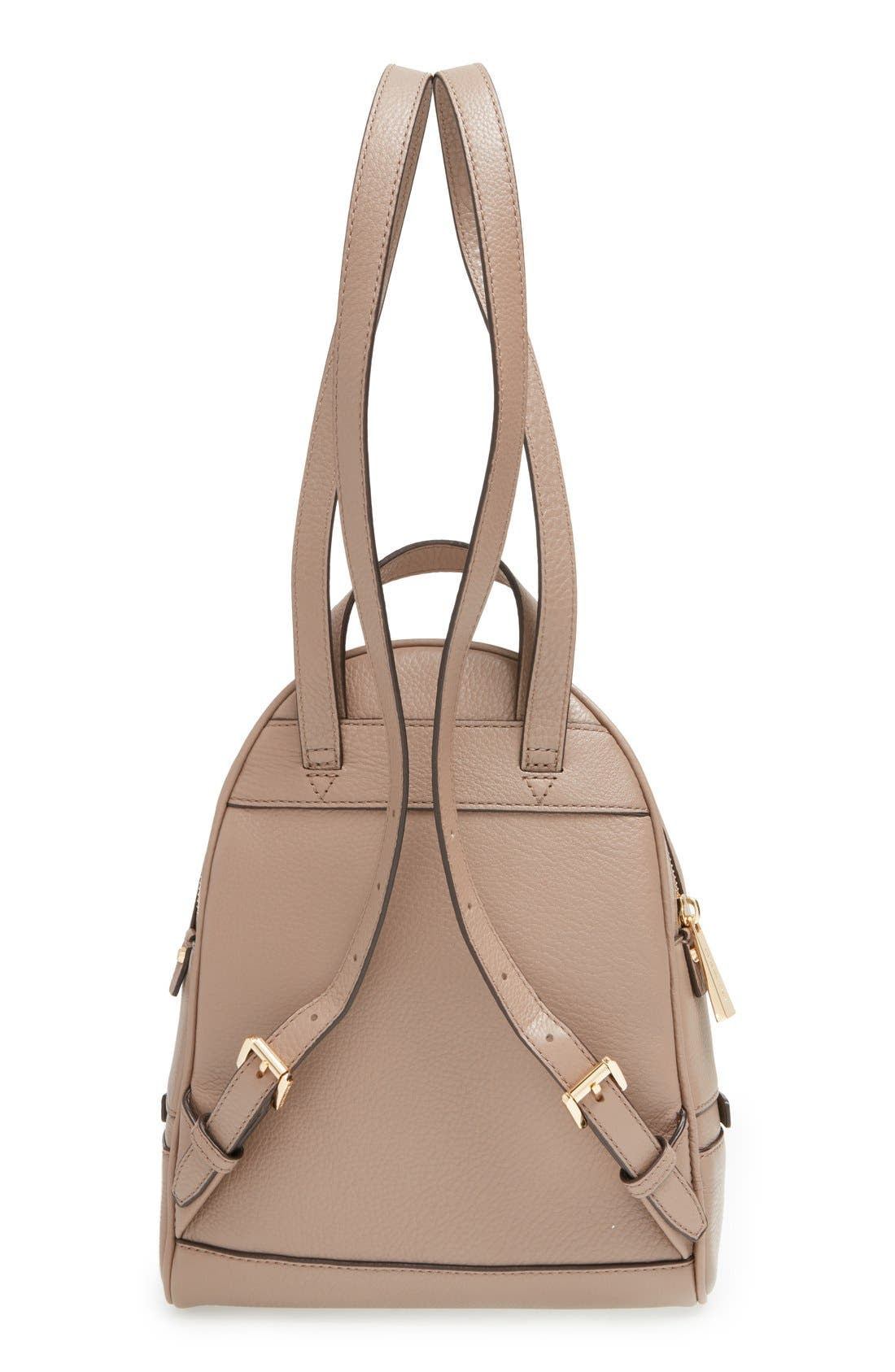 Alternate Image 3  - MICHAEL Michael Kors 'Extra Small Rhea Zip' Leather Backpack