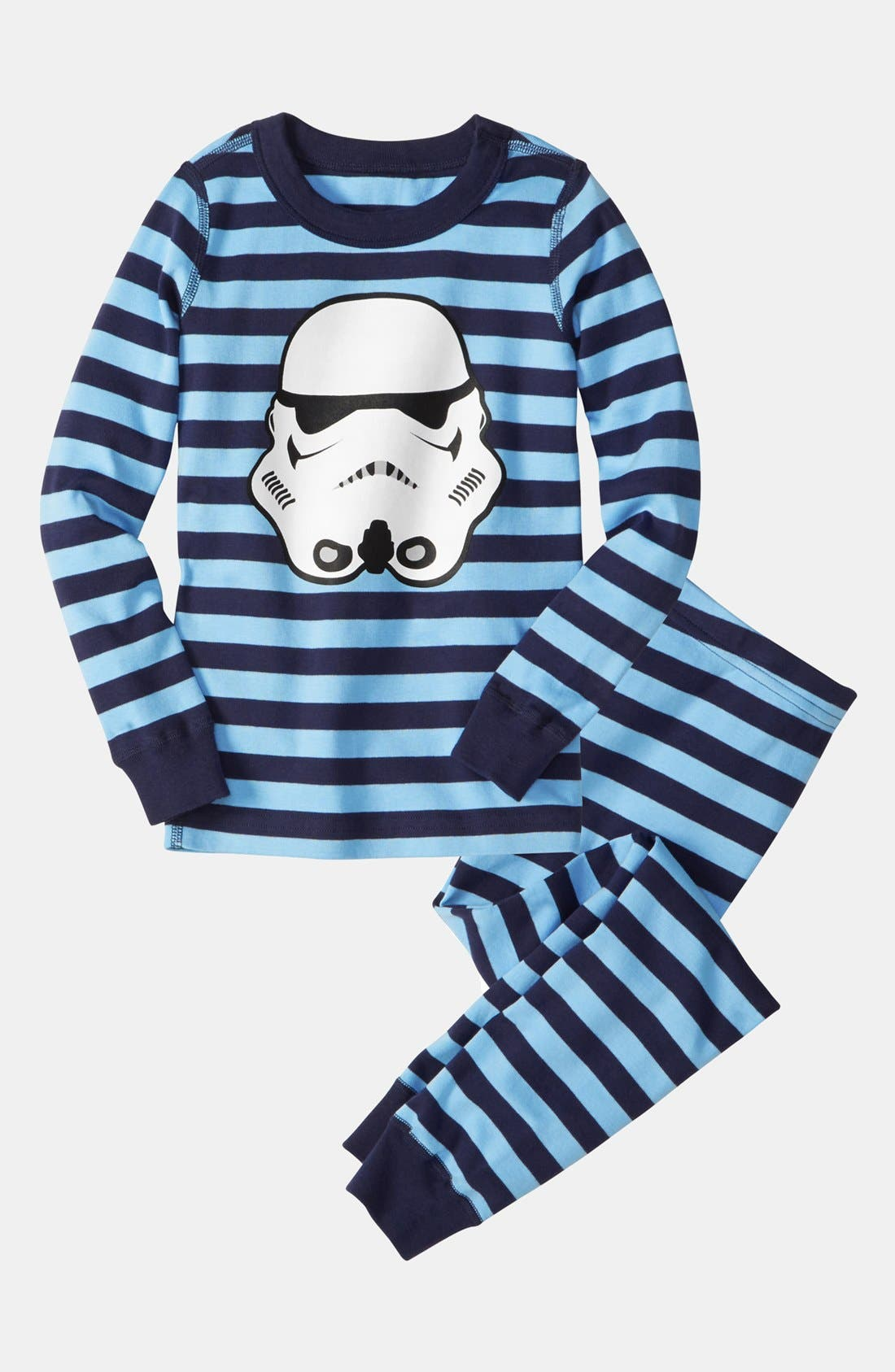 Main Image - Hanna Andersson Two-Piece Fitted Pajamas (Little Boys & Big Boys)