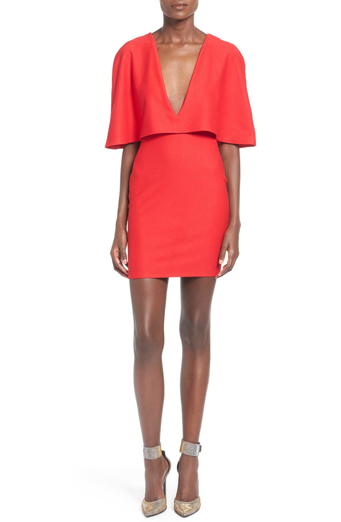 Alternate Image 1 Selected - Missguided Cape Body-Con Dress