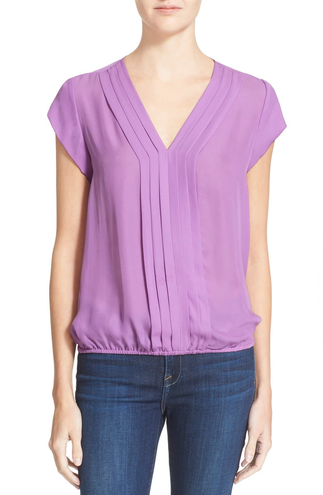 Main Image - Joie 'Marcher' Pleated Silk Top
