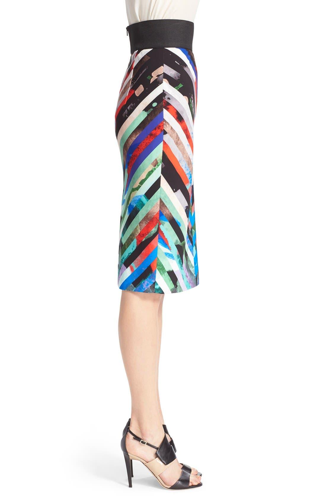 Alternate Image 4  - Milly 'Mirage Stripe' Pencil Skirt