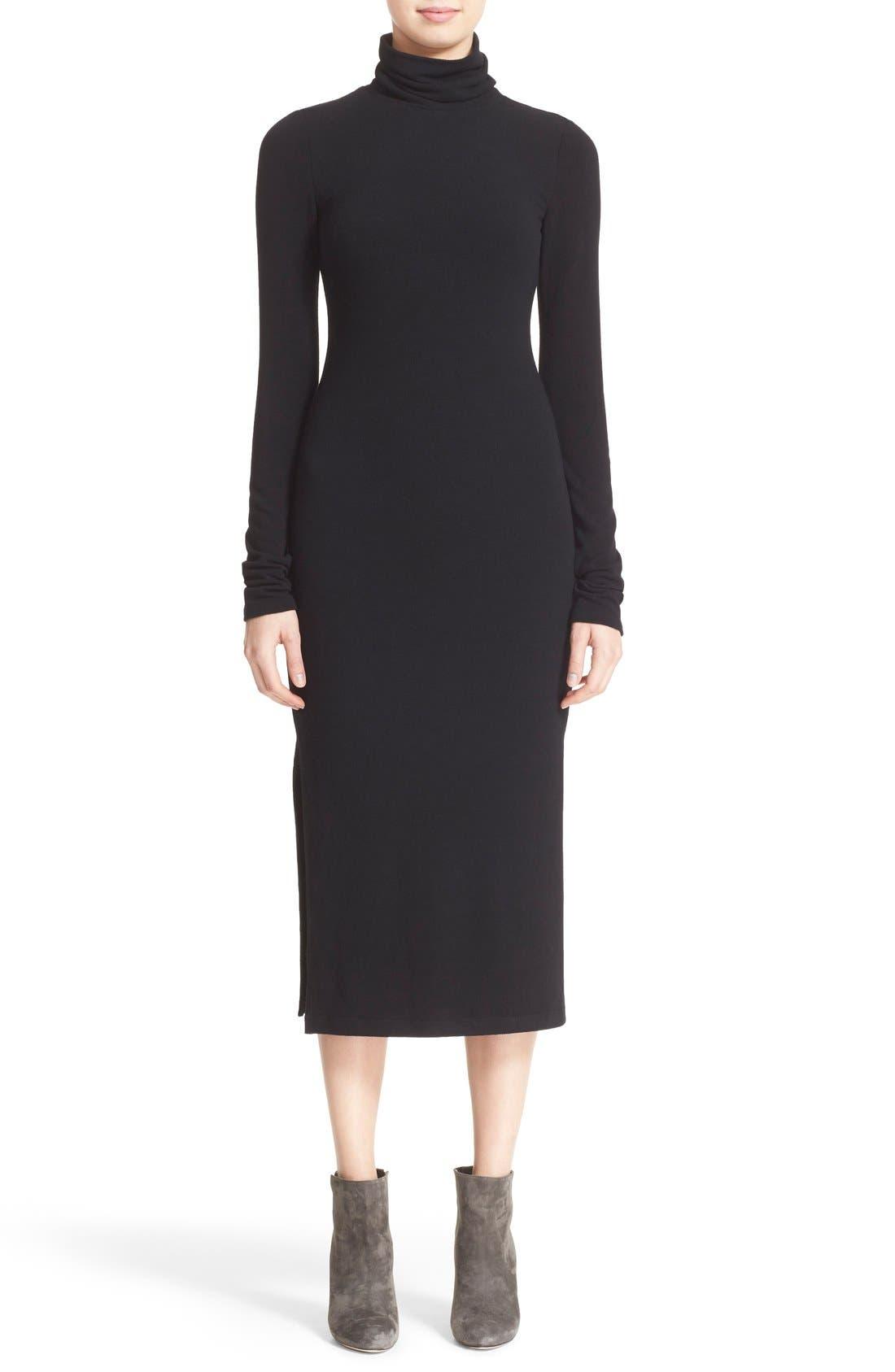 Main Image - Alice + Olivia 'Dev' Split Hem Midi Dress