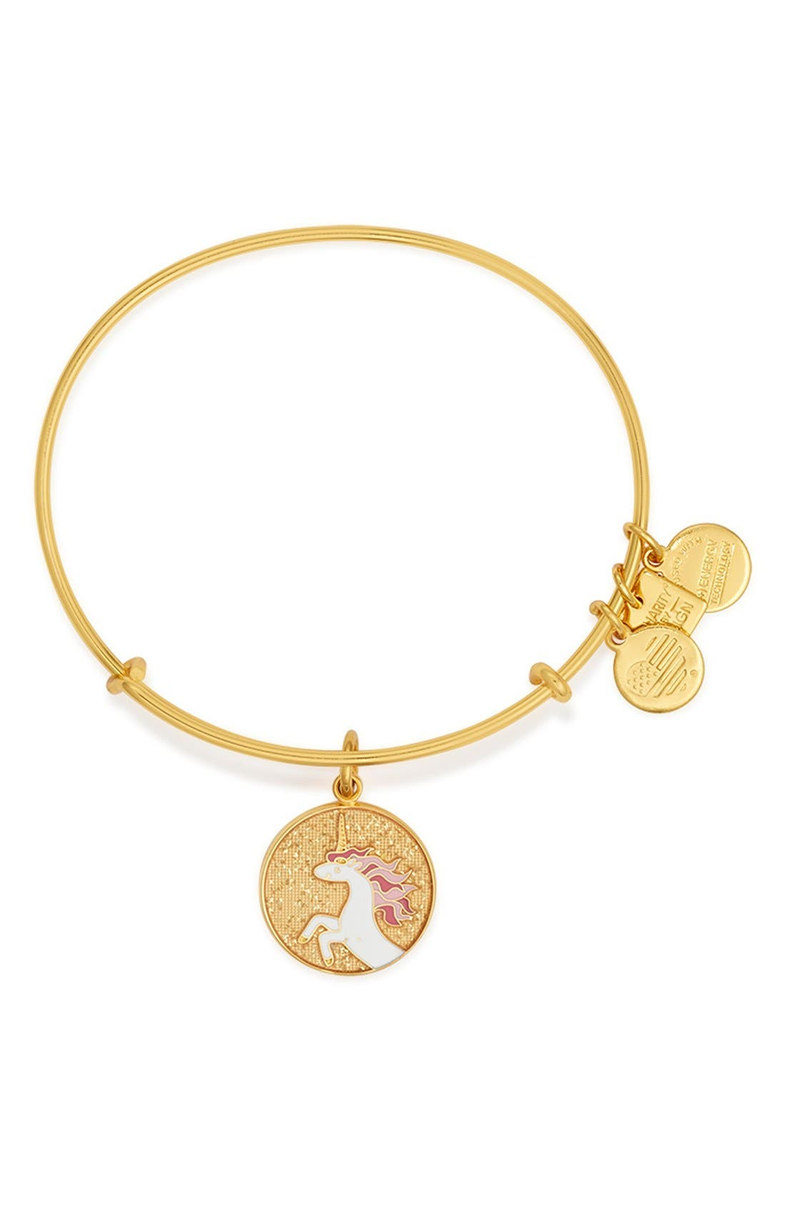 Alternate Image 1 Selected - Alex and Ani 'Charity by Design - Unicorn' Expandable Wire Bangle