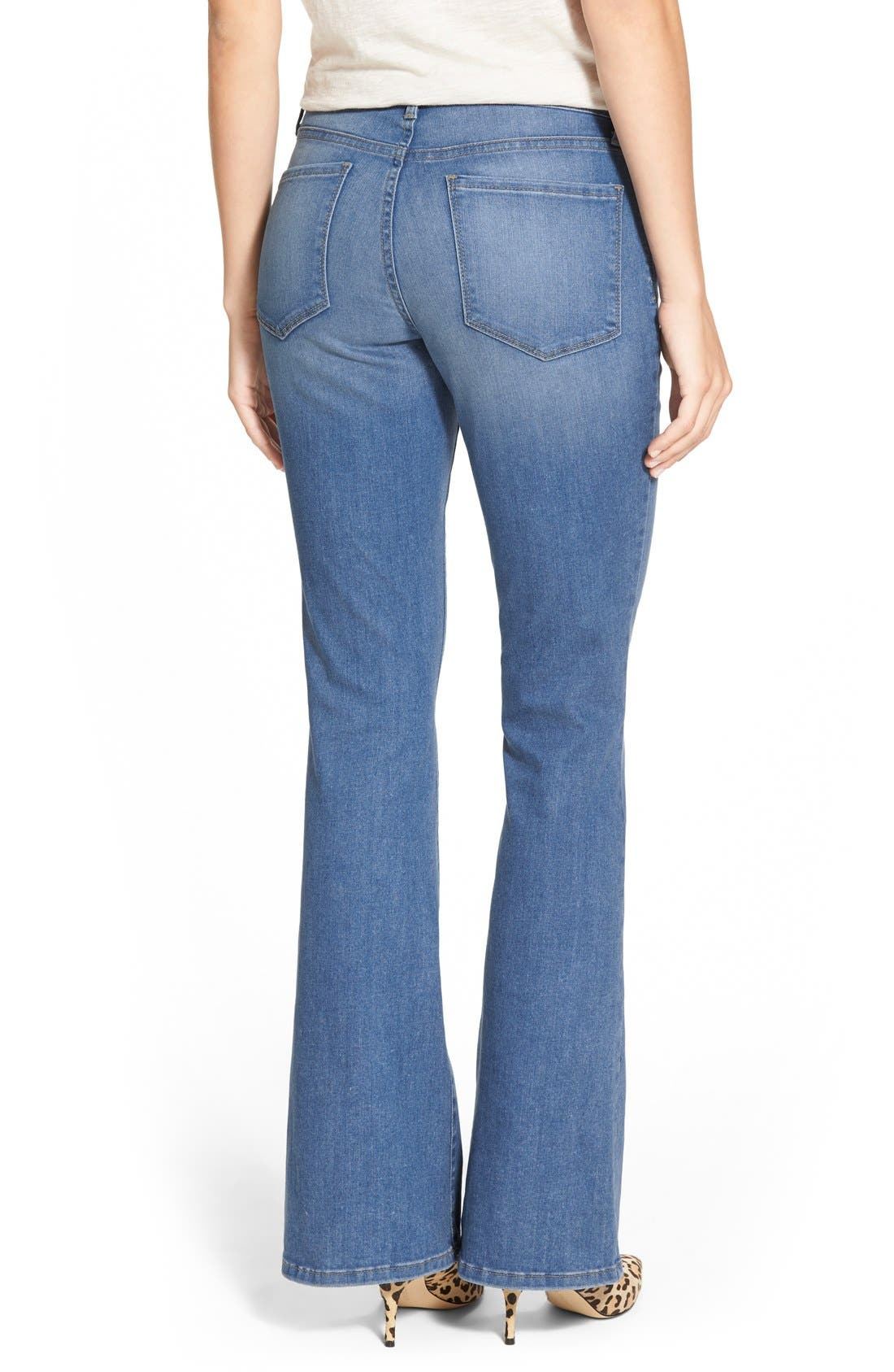 Alternate Image 2  - NYDJ 'Farrah' Stretch Flare Leg Jeans (Upper Falls)