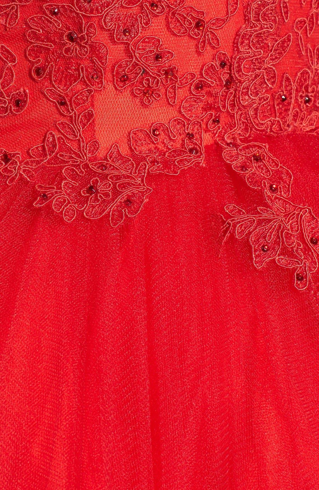 Alternate Image 5  - Mac Duggal Lace Skater Dress