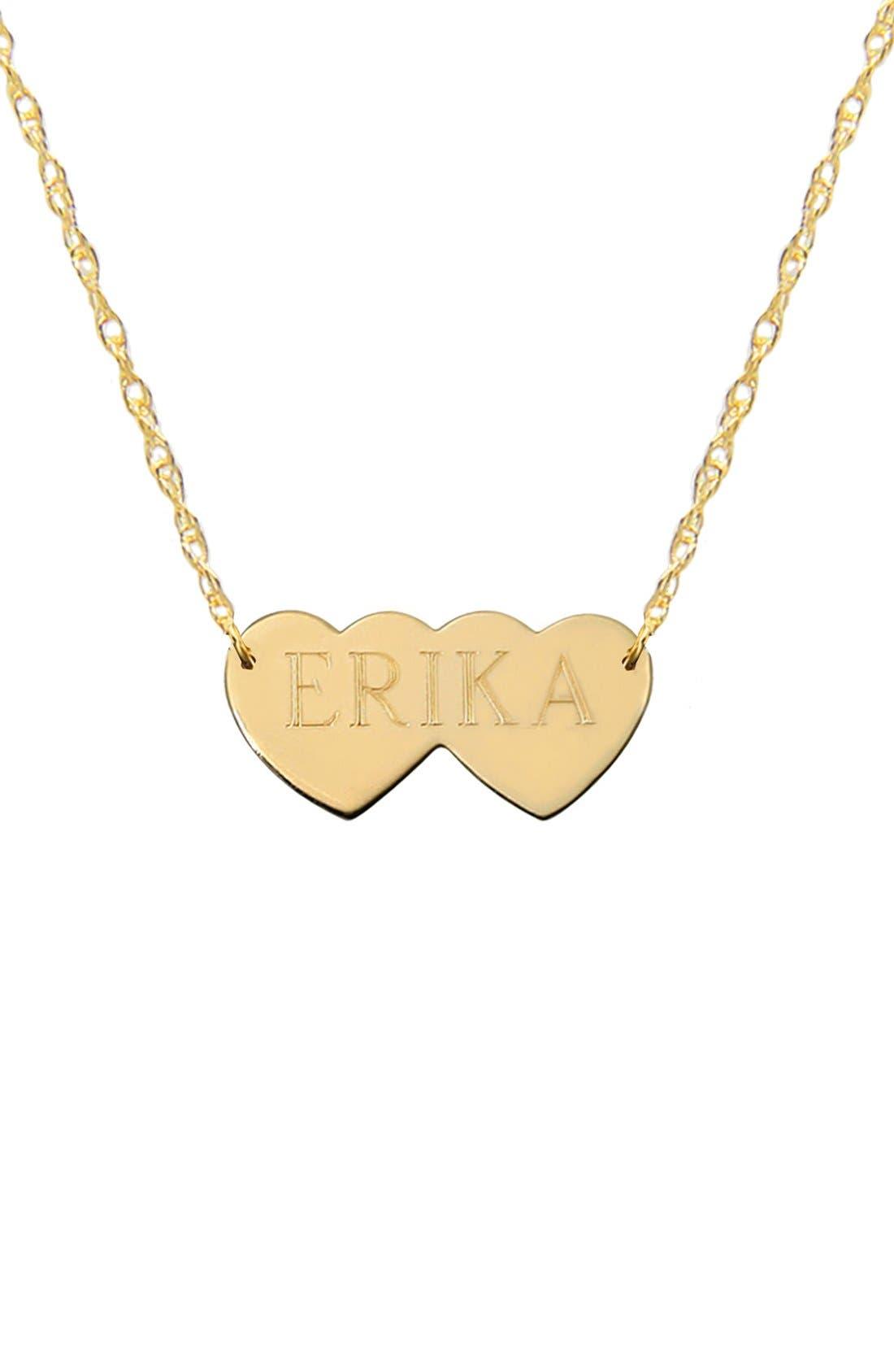 JANE BASCH DESIGNS Double Heart Name Pendant Necklace