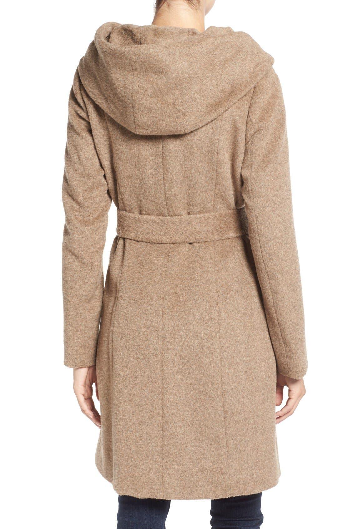 Alternate Image 2  - Cole HaanAlpaca & Wool Wrap Coat