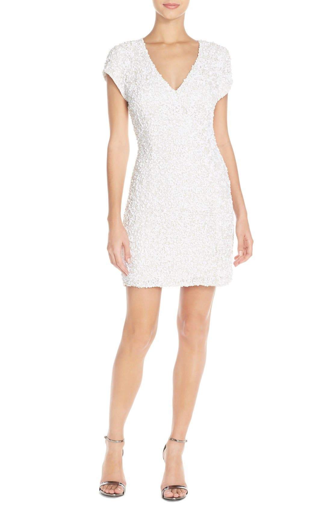 Alternate Image 1 Selected - Parker Black 'Serena' Sequin Silk Body-Con Dress