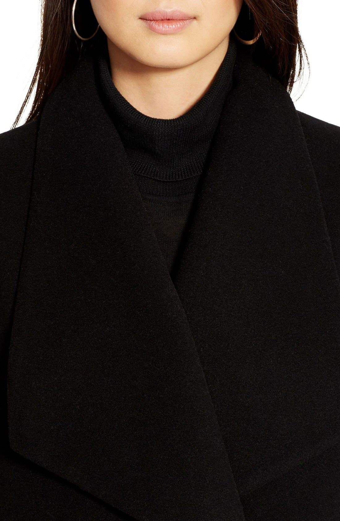 Alternate Image 4  - Lauren Ralph Lauren Tab Front Asymmetrical Wool Blend Coat