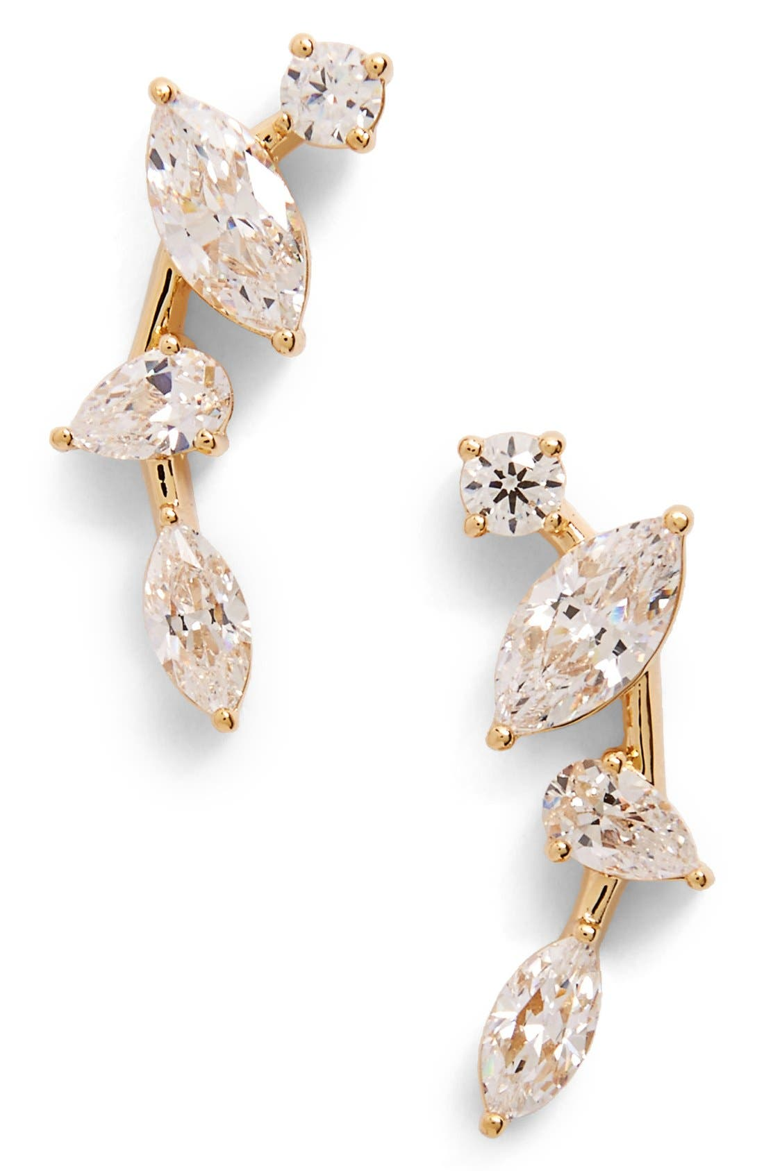 Alternate Image 1 Selected - Nadri Cubic Zirconia Ear Crawlers