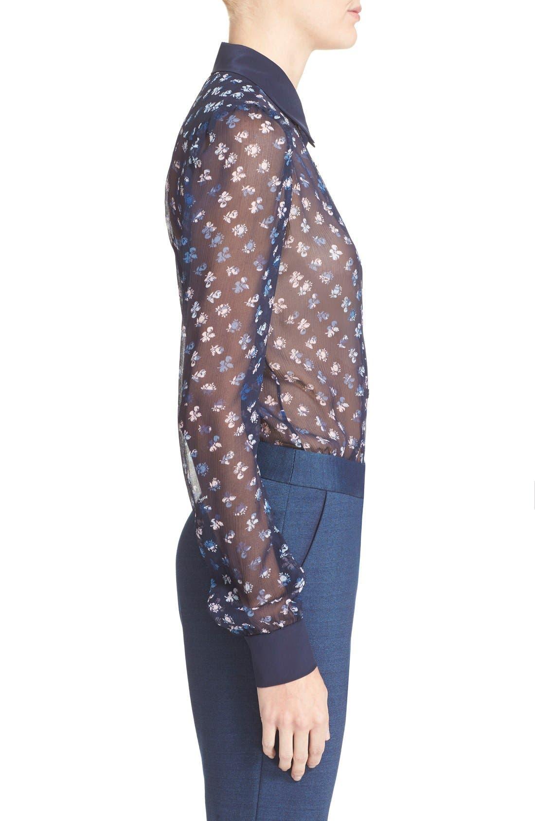 Alternate Image 3  - Diane von Furstenberg 'Mariah' Floral Print Silk Blouse