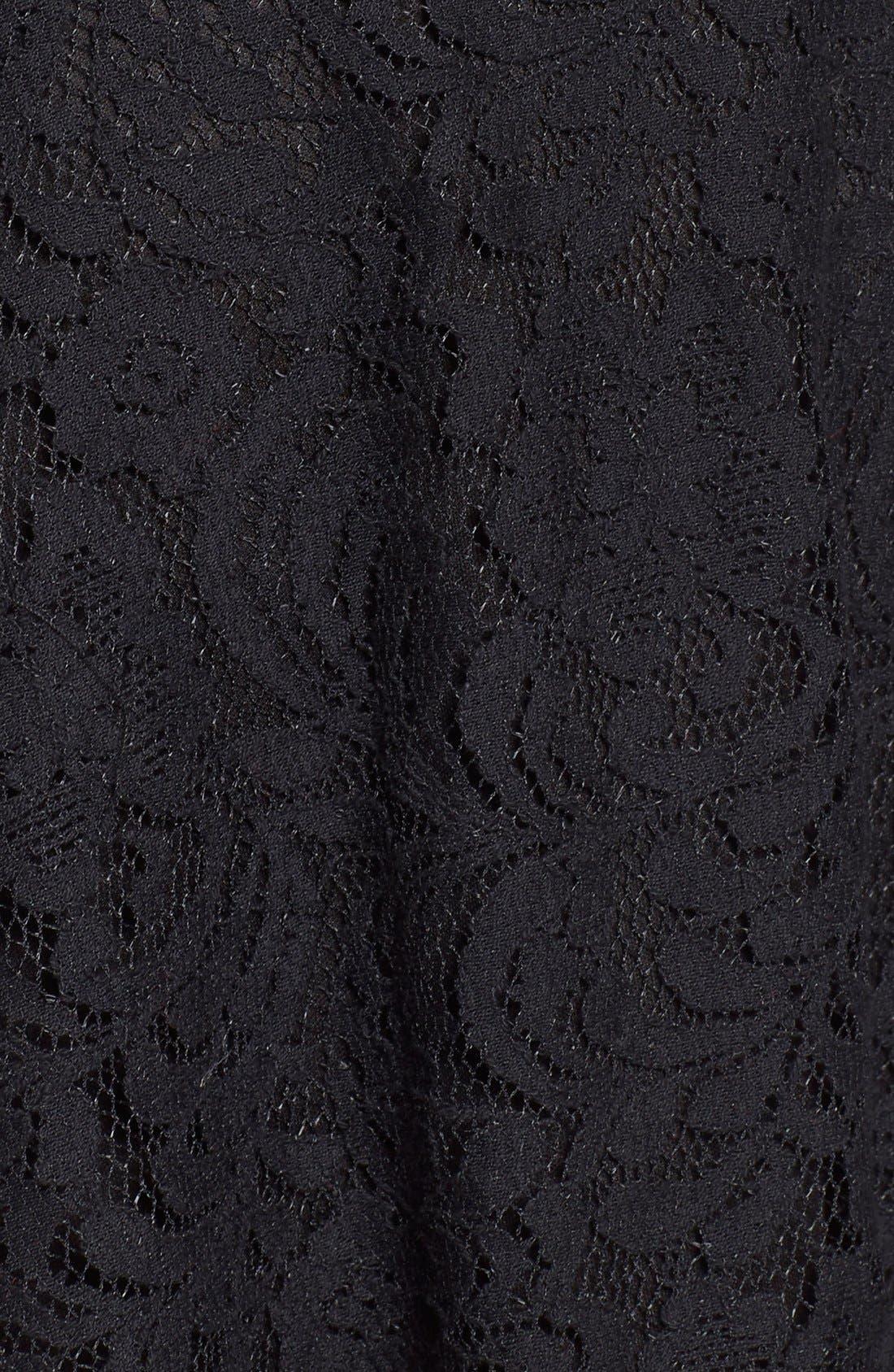 Alternate Image 5  - Lush Floral Lace Fit & Flare Dress