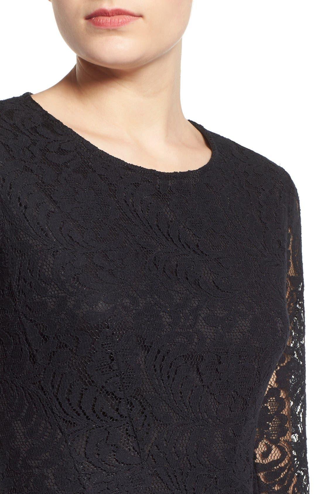 Alternate Image 4  - Lush Floral Lace Fit & Flare Dress