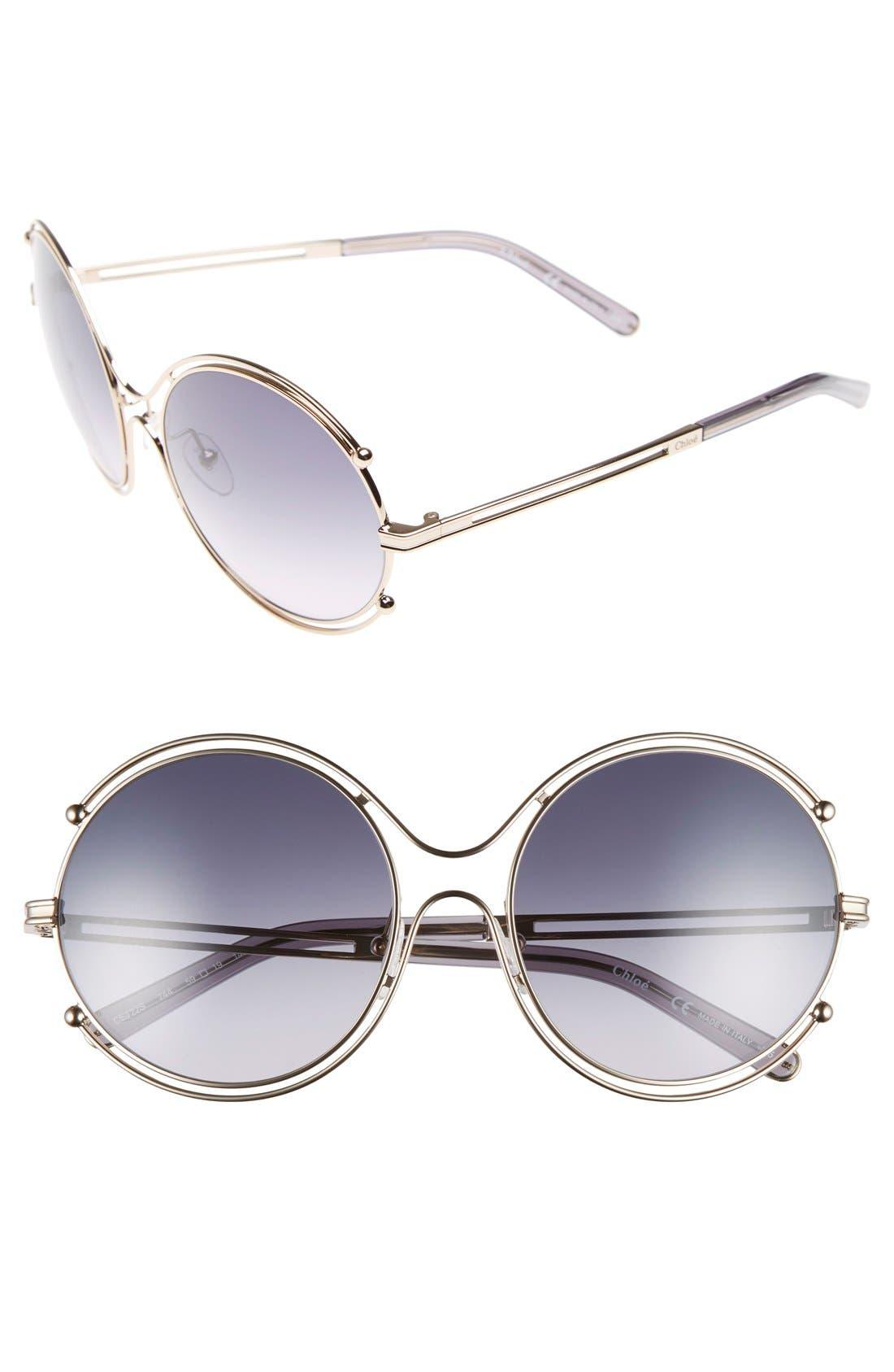Chloé 'Isidora' 59mm Round Sunglasses