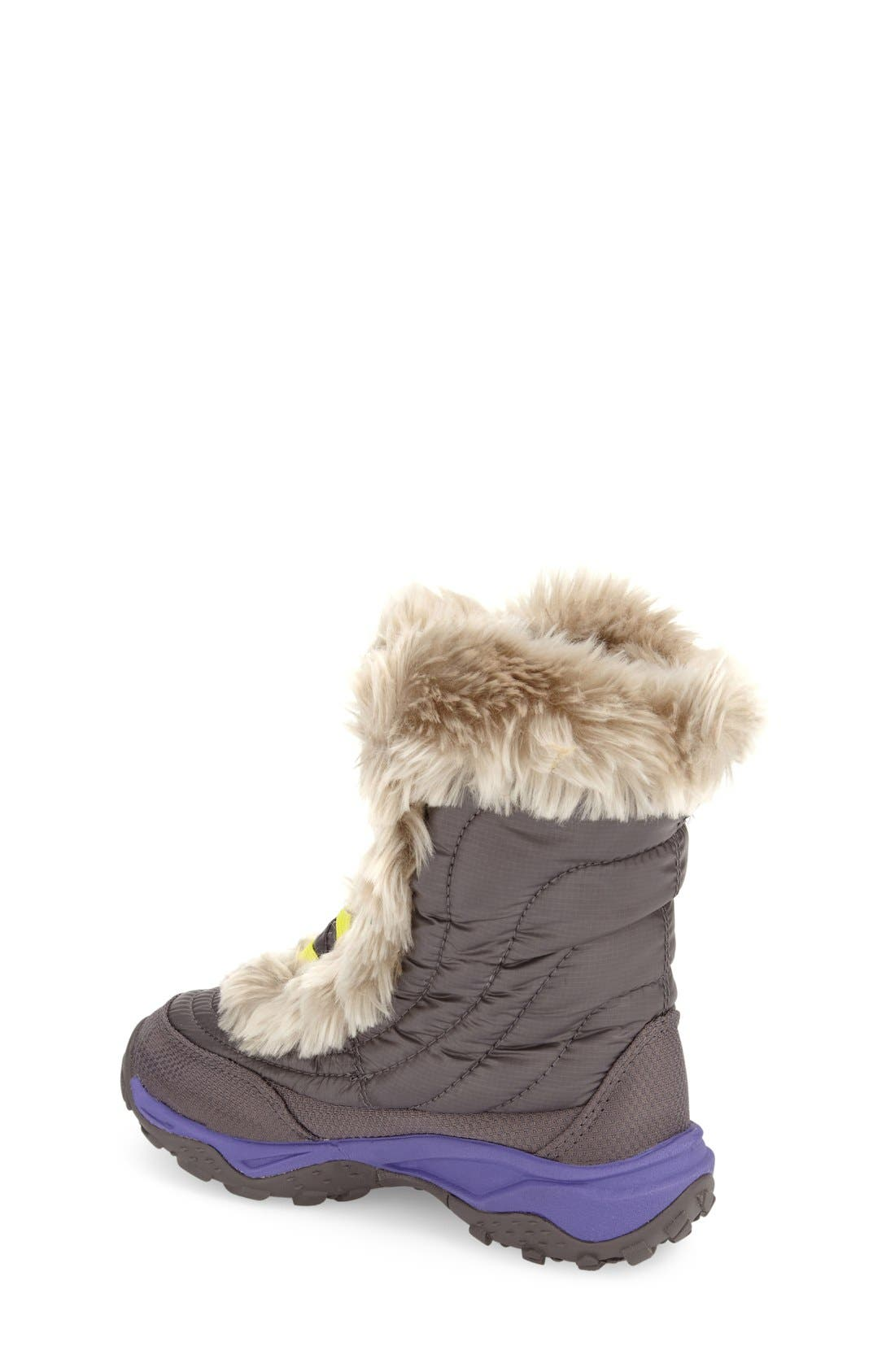 Alternate Image 2  - The North Face 'Nuptse Fur' Boot (Little Kid & Big Kid)