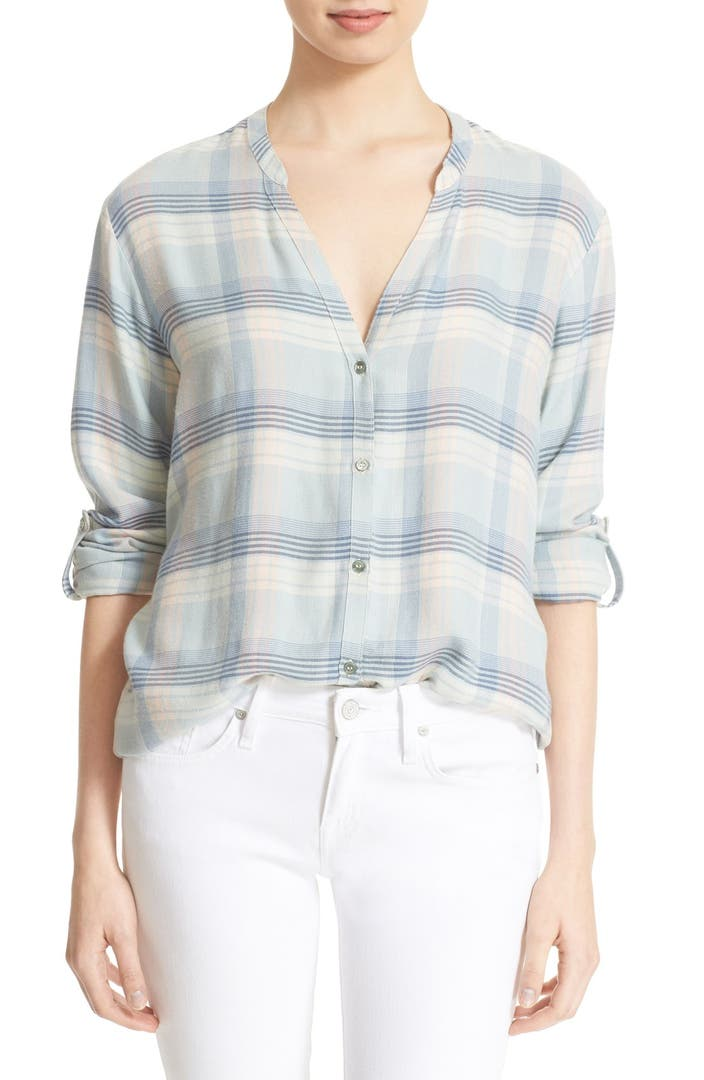 Soft joie 39 dane 39 plaid shirt nordstrom for Soft joie plaid shirt