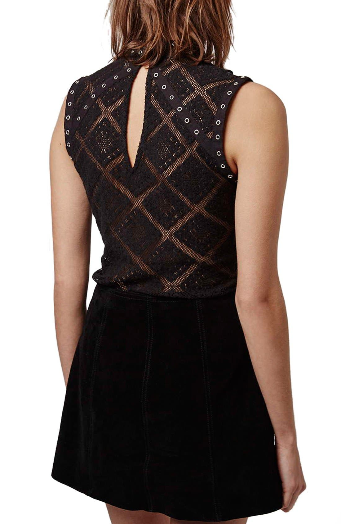 Alternate Image 3  - Topshop Eyelet Lace Shell Top