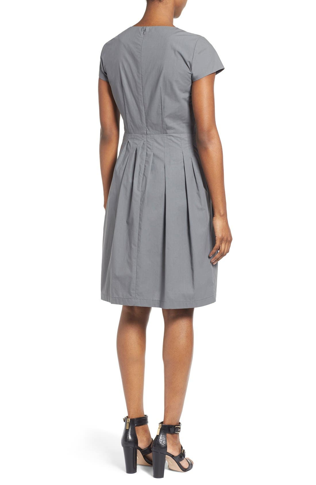 Alternate Image 3  - Lafayette 148 New York 'Gina' Cap Sleeve Fit & Flare Dress