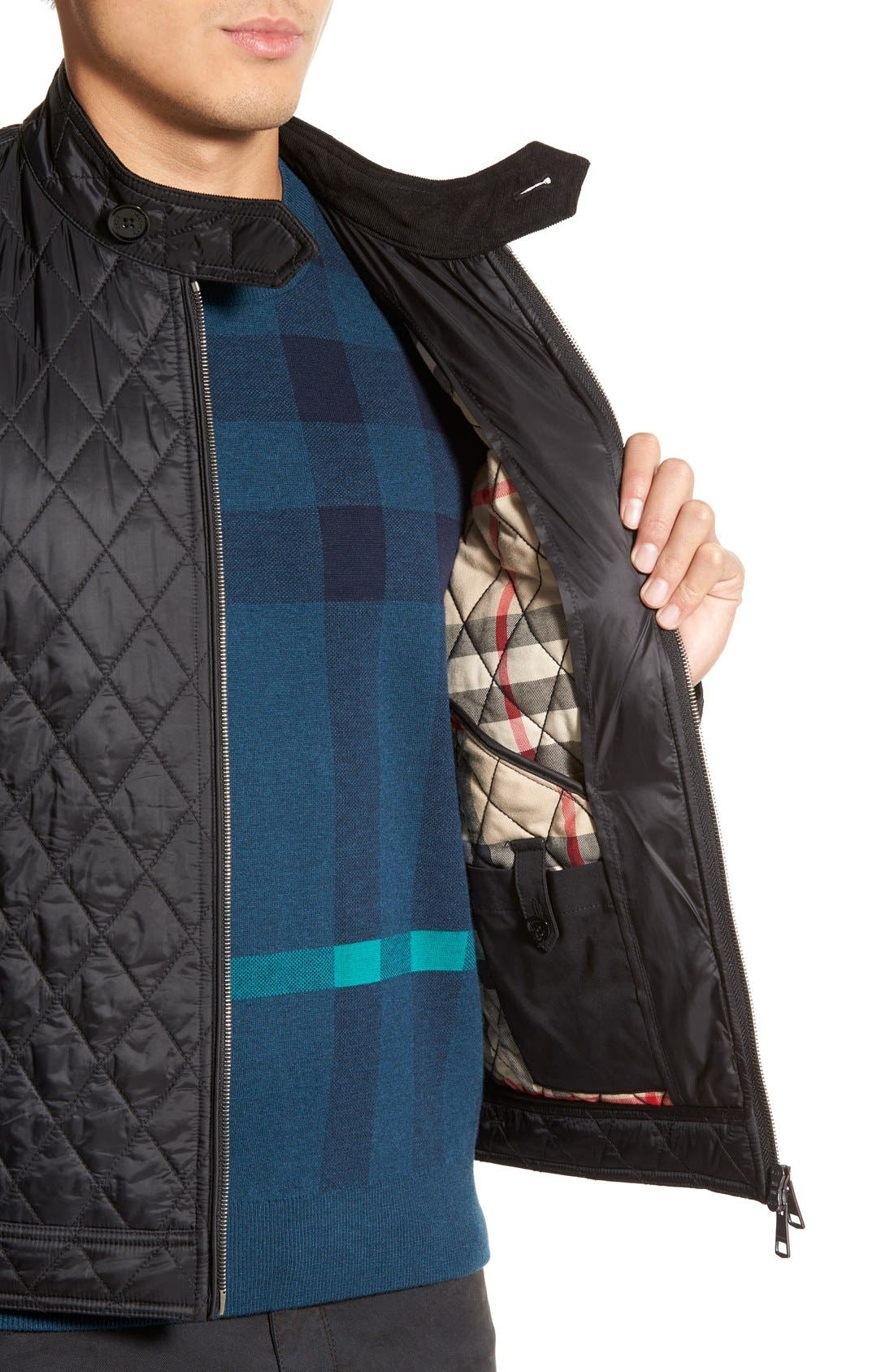Alternate Image 5  - Burberry Brit 'Howson' Quilted Bomber Jacket
