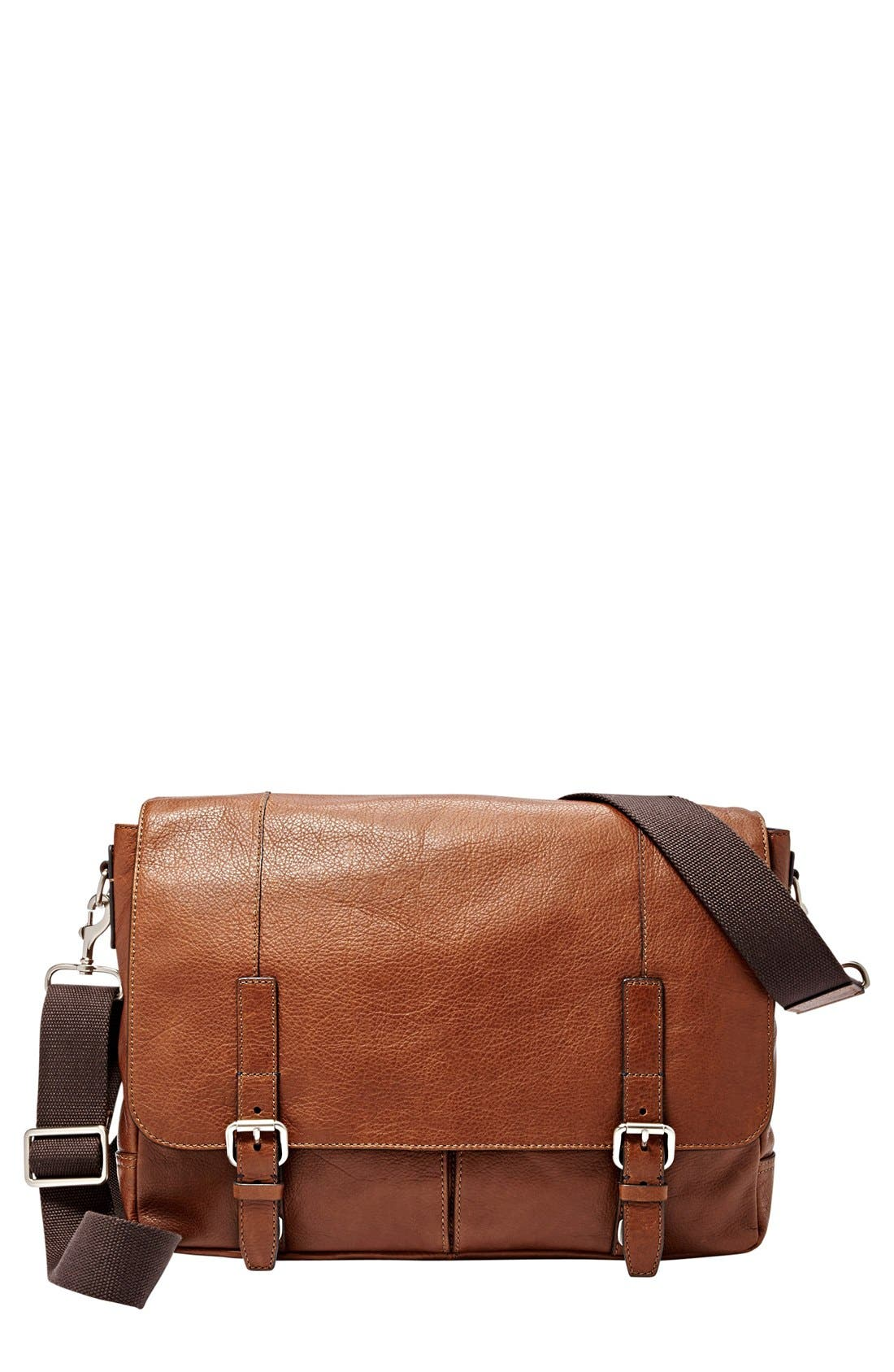 Fossil 'Graham' Leather Messenger Bag