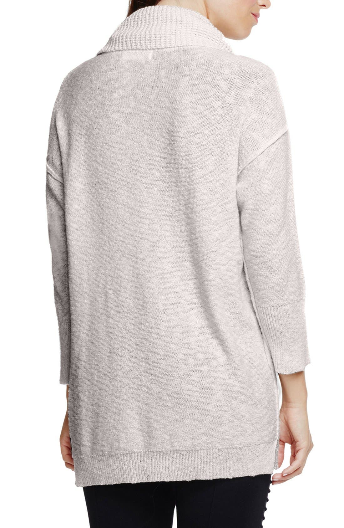 Alternate Image 2  - Two by Vince Camuto Exposed Seam Cowl Neck Pullover