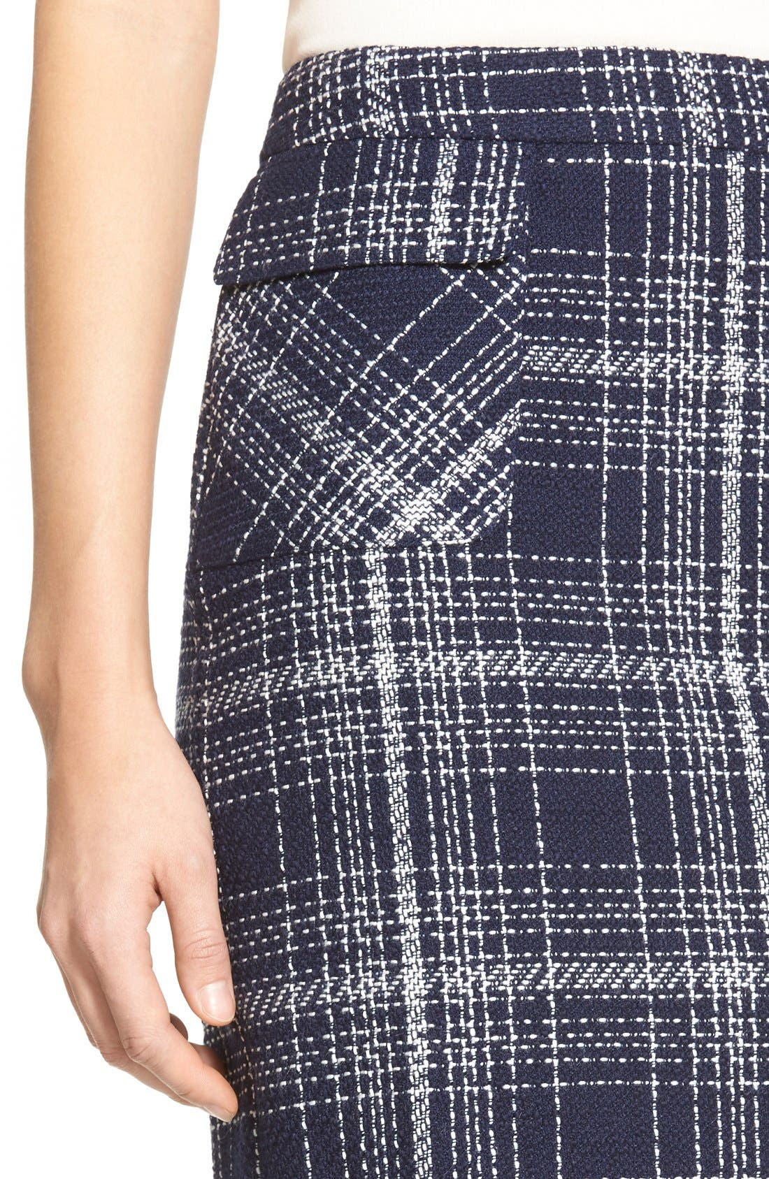Alternate Image 5  - Halogen® Flap Pocket Tweed Pencil Skirt (Regular & Petite)