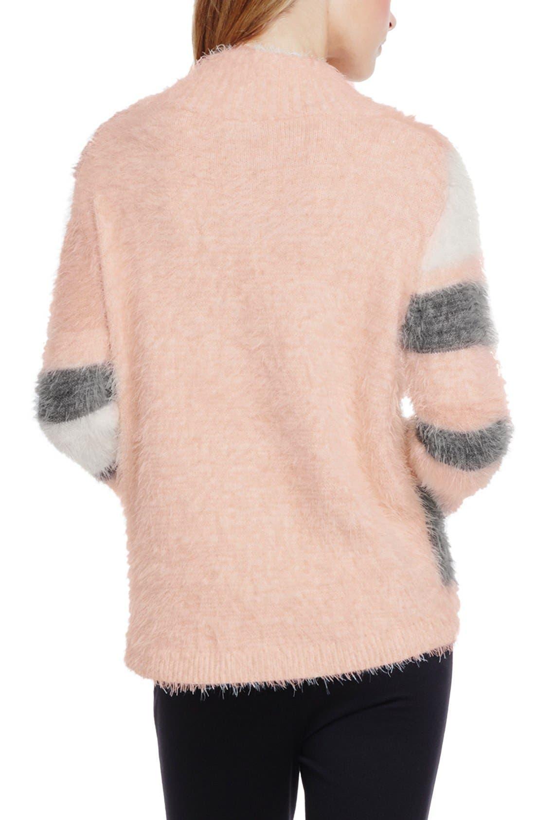 Alternate Image 3  - Vince Camuto Mixed Yarn Intarsia Turtleneck Eyelash Sweater