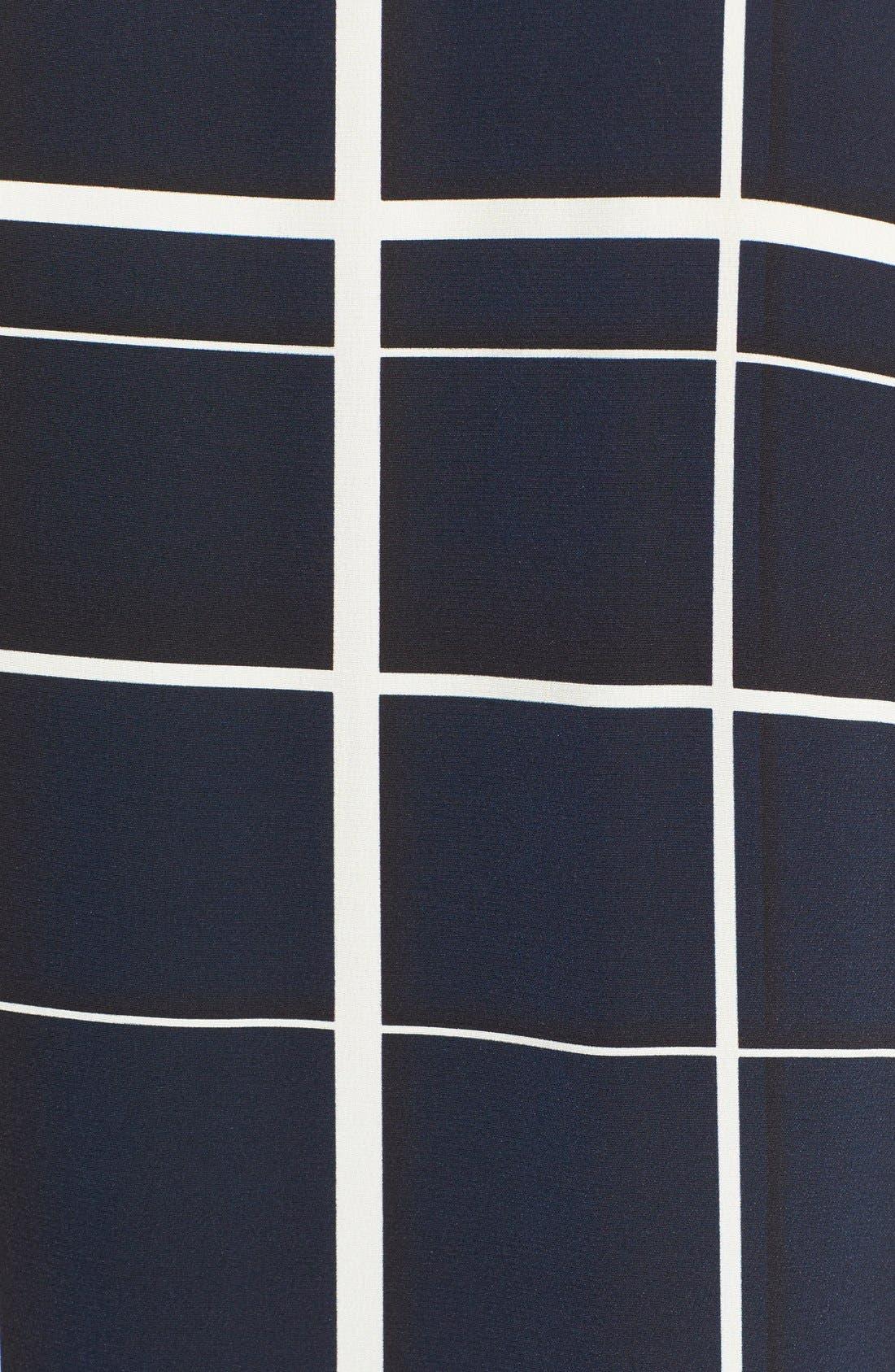 Alternate Image 5  - Vince Lattice Print Silk Shift Dress