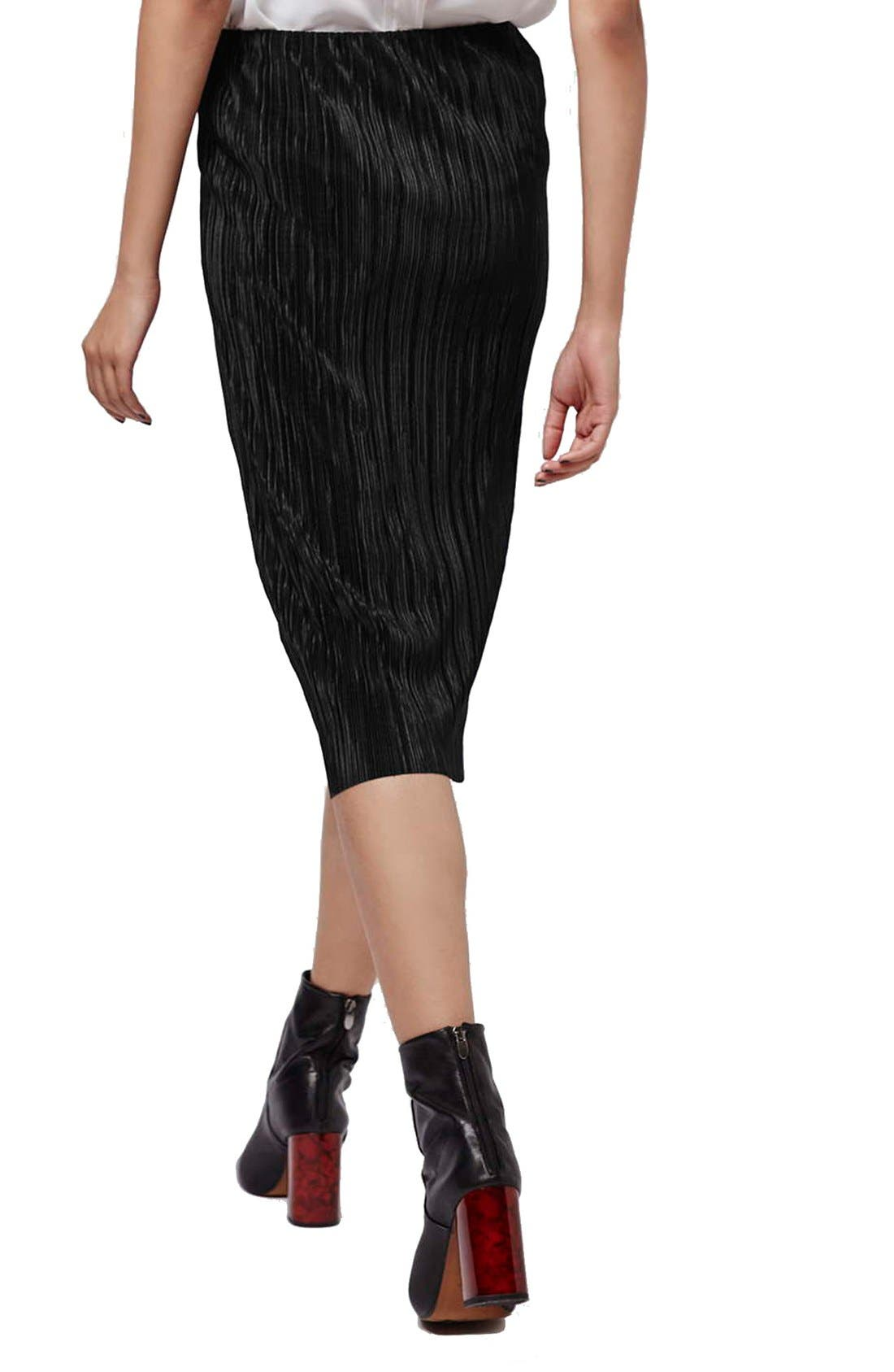 Alternate Image 3  - Topshop Plissé Tube Skirt