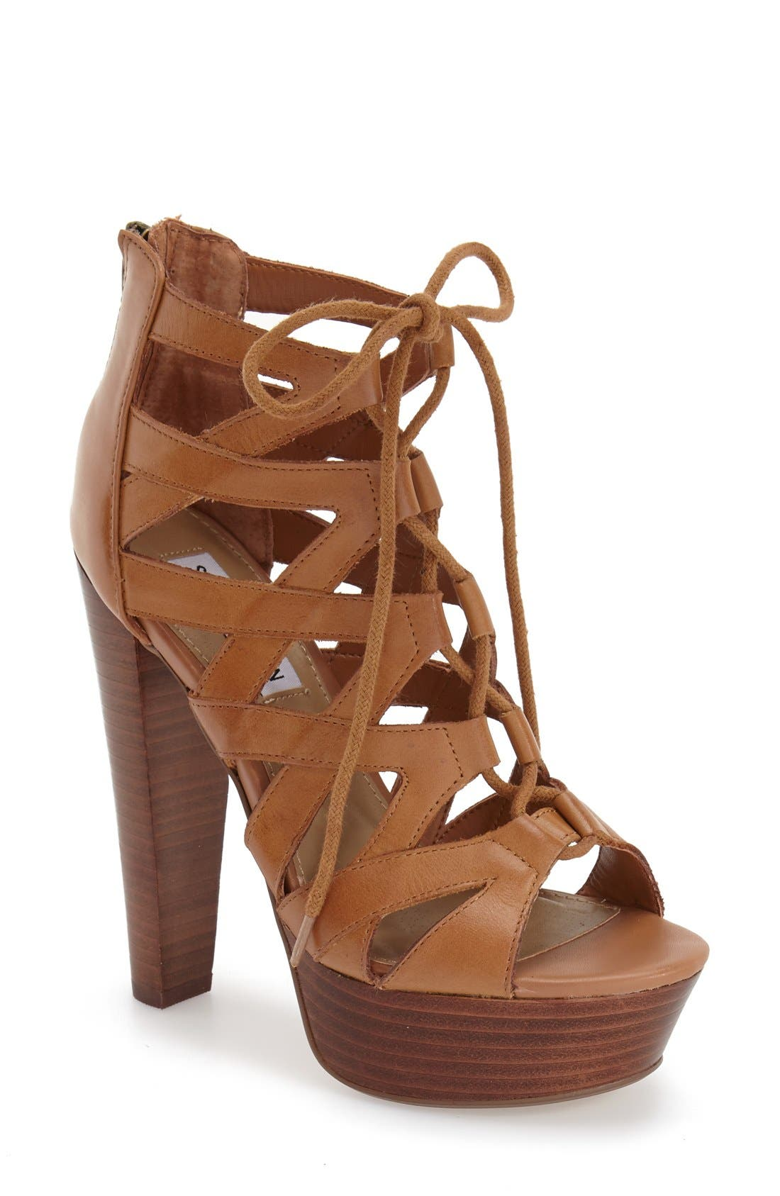 Alternate Image 1 Selected - Steve Madden 'Dreamgirl' Lace-Up Sandal (Women)