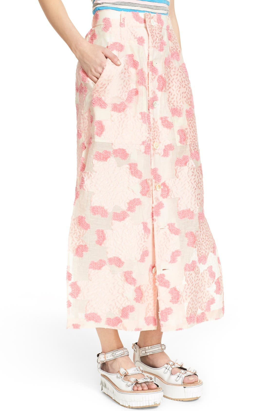Alternate Image 5  - Julien David Fil Coupé Floral Jacquard Skirt