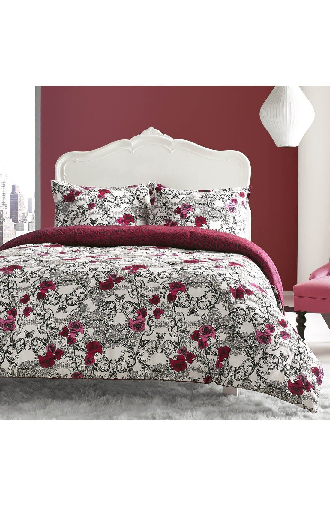 Main Image - Betsey Johnson Bedding Rock Out Reversible Comforter & Sham Set