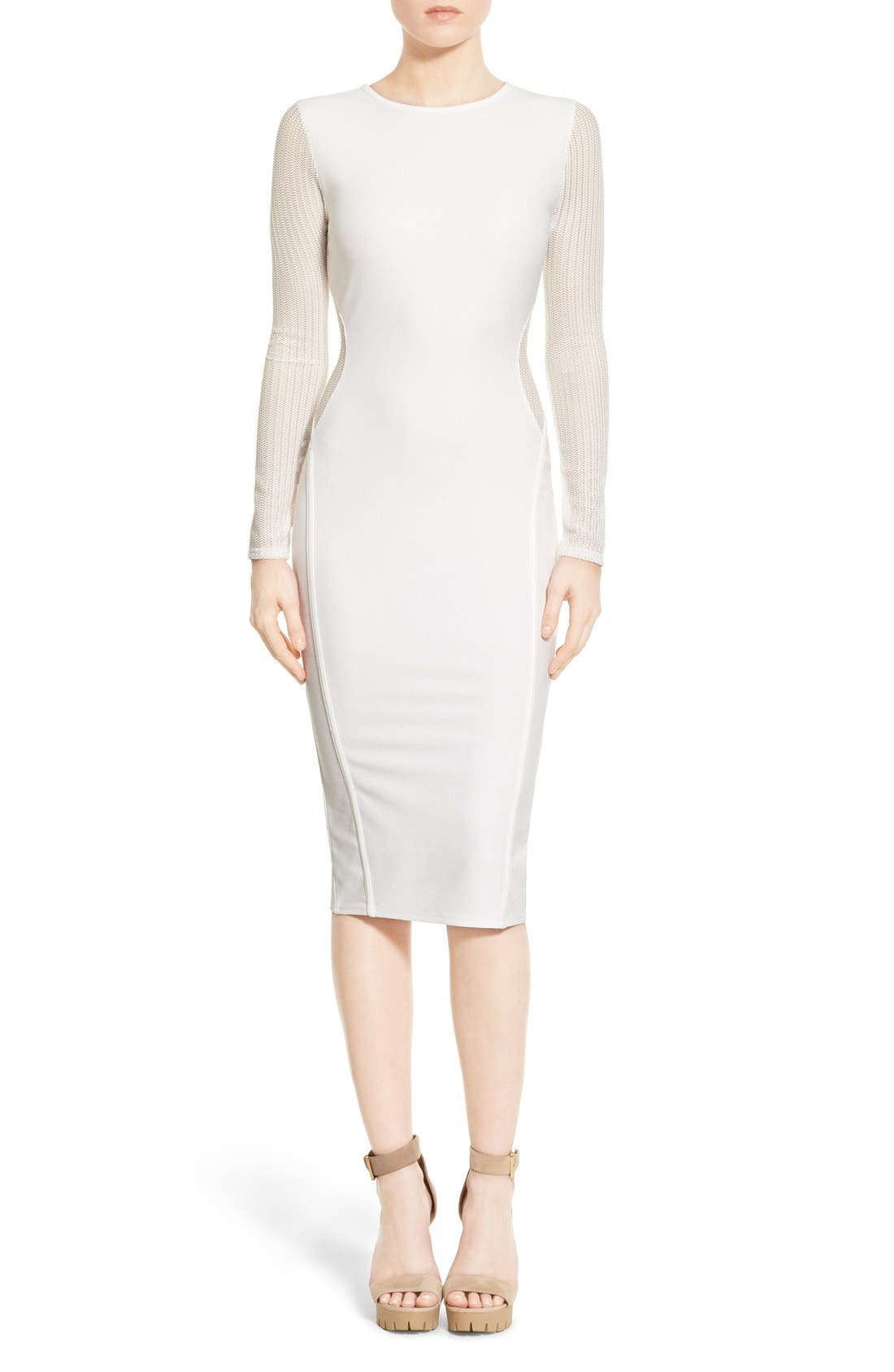 Alternate Image 1 Selected - Missguided Open Back Midi Dress