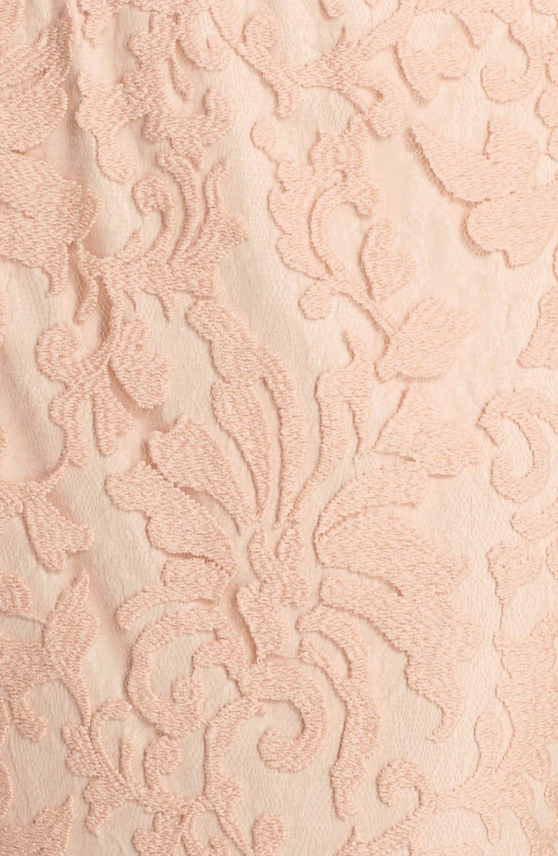 Alternate Image 5  - Tadashi Shoji Textured Lace Mermaid Gown (Regular & Petite)
