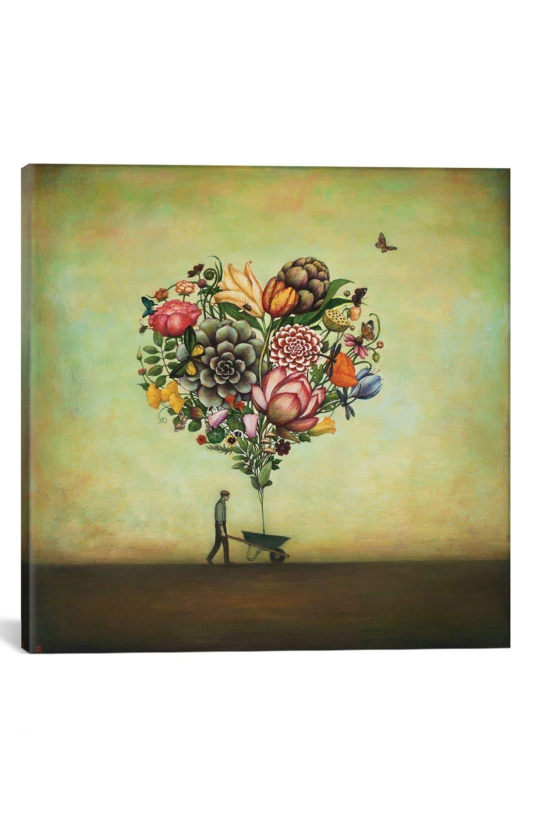 ICANVAS 'Big Heart Botany' Giclée Print Canvas Art