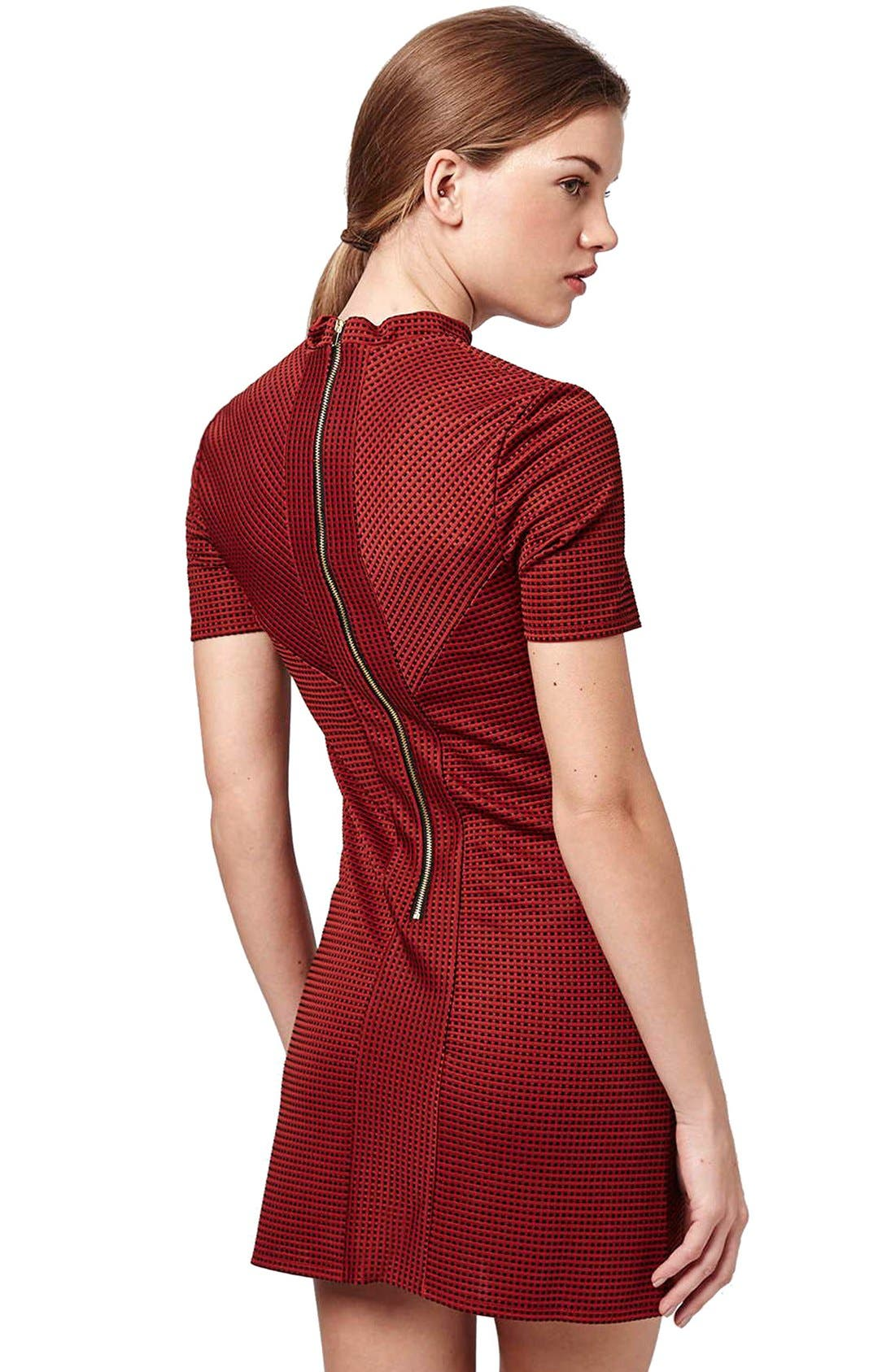 Alternate Image 2  - Topshop Textured A-Line Dress