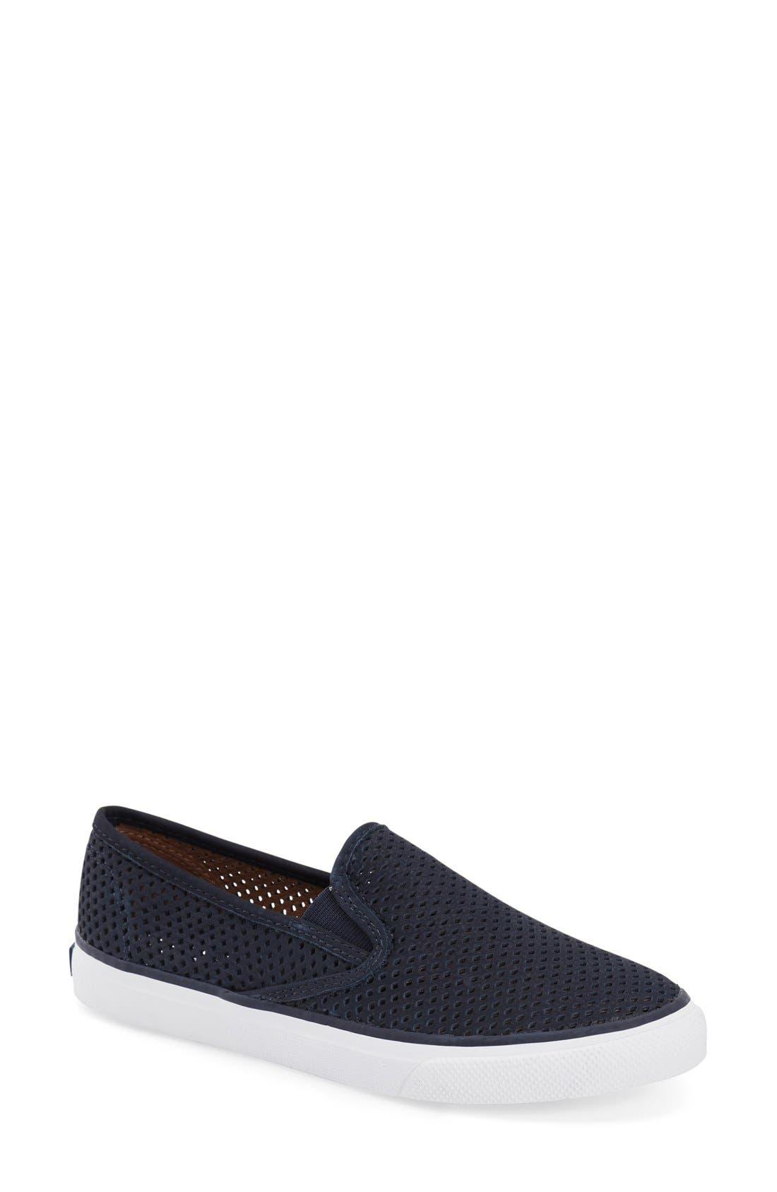 Alternate Image 1 Selected - Sperry 'Seaside' Perforated Slip-On Sneaker (Women)